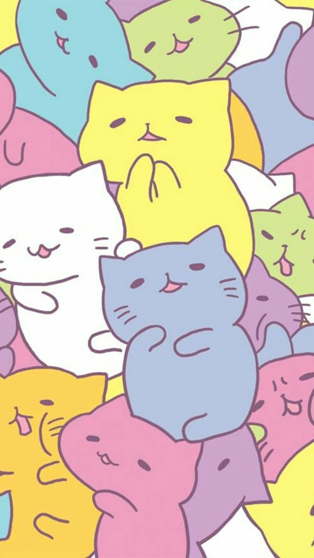 1080x1920 Pin by Esther on cats | Pinterest | Kawaii, Wallpaper and Kawaii ...