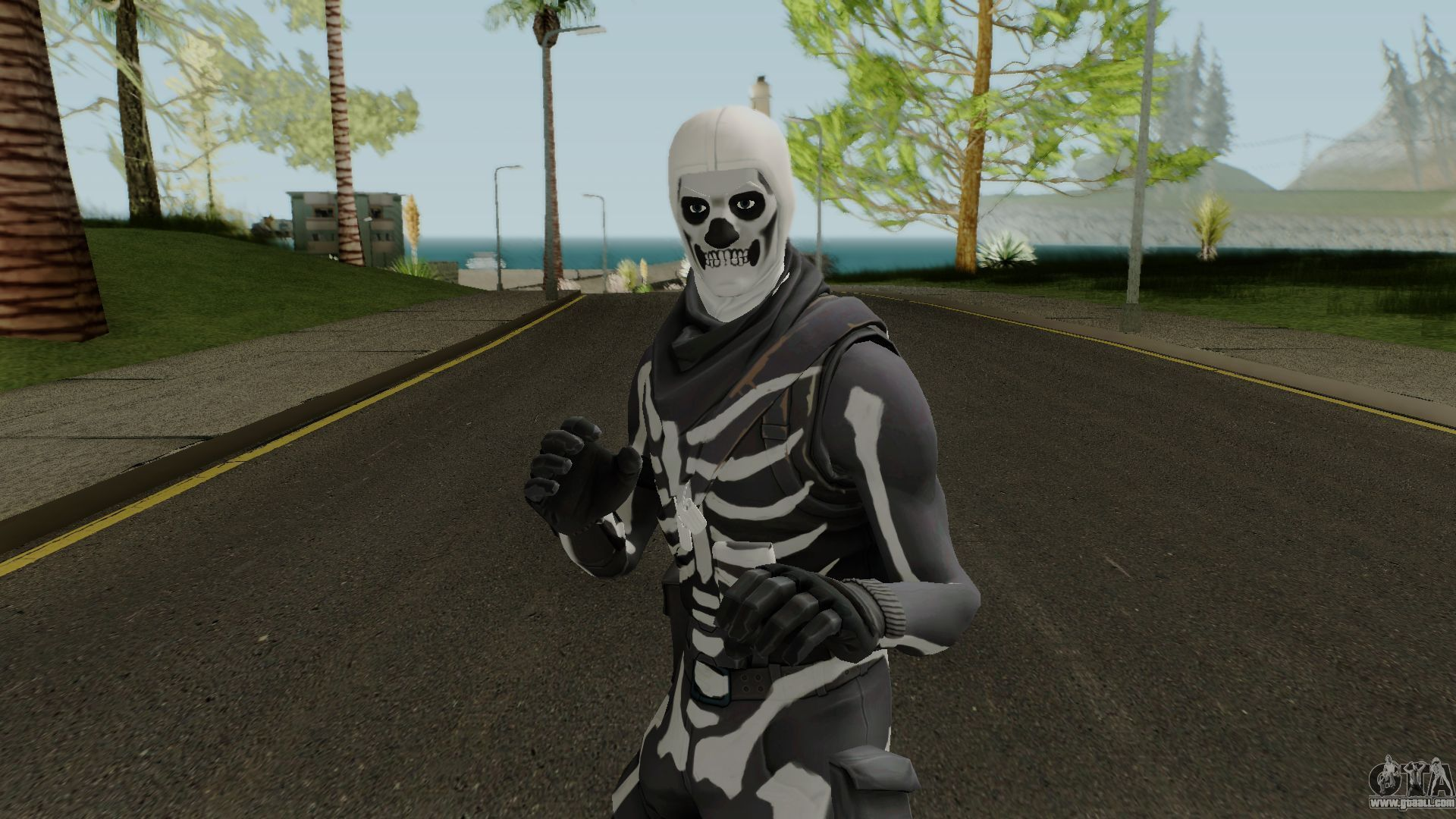 1920x1080 Fortnite Skull Trooper for GTA San Andreas