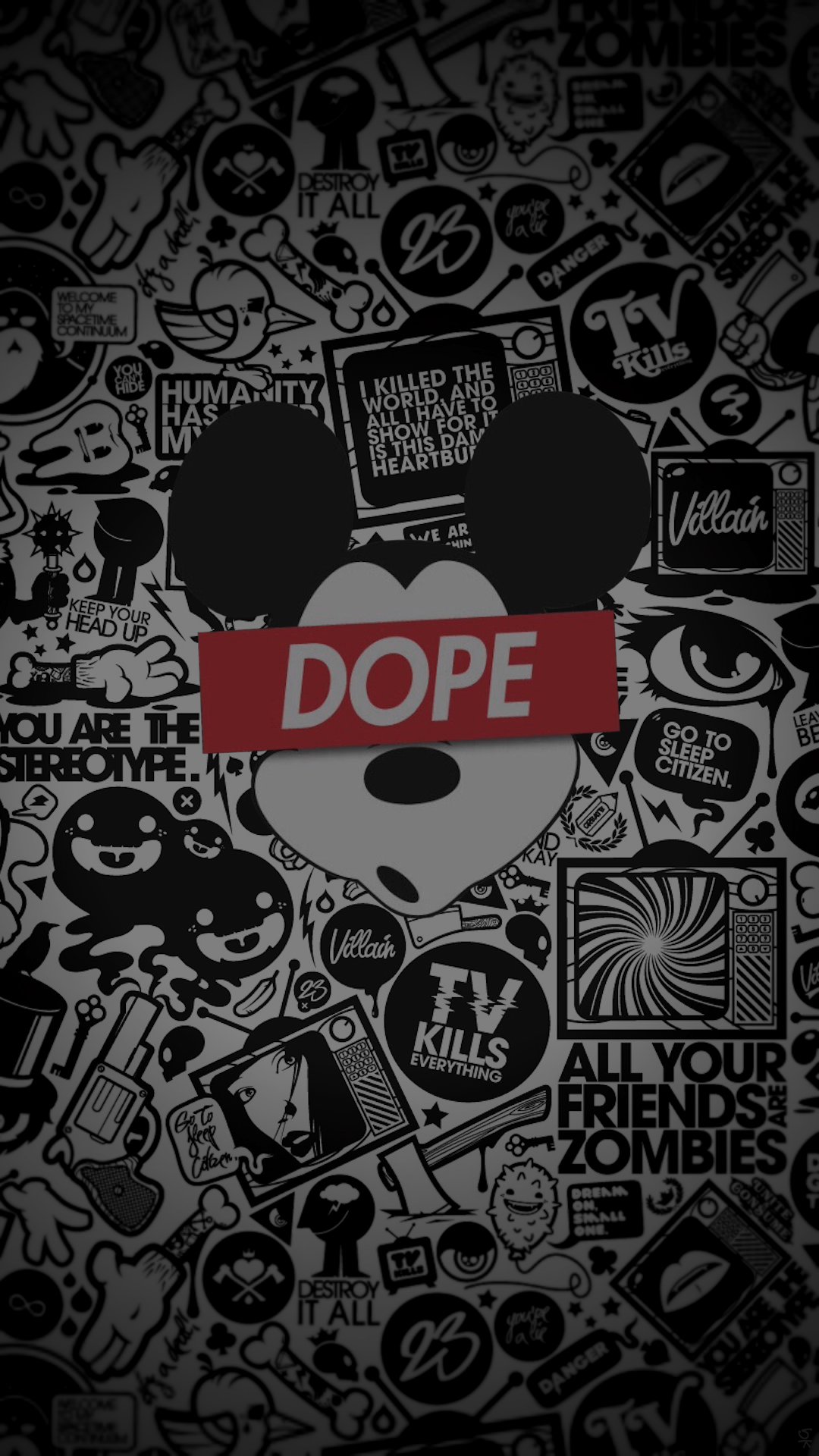 1080x1920 Mickey Dope - Tap to see more Dope wallpaper! - @mobile9 | iPhone 8 ...