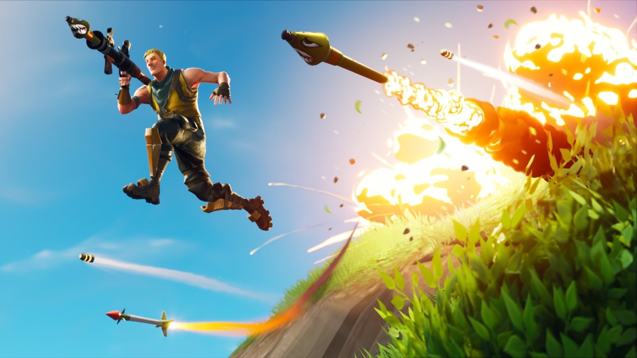 2048x1152 Fortnite' Leaks Reveal Quad Launcher, Suppressed SCAR, and ...