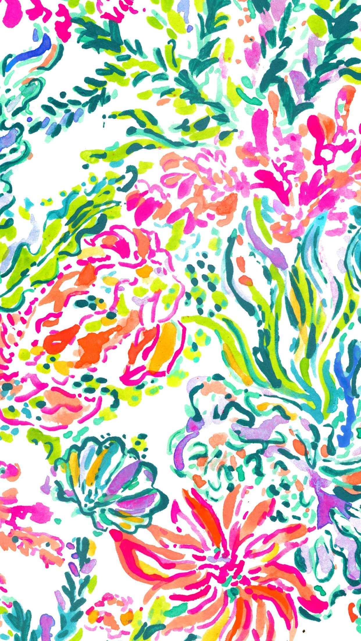 1242x2208 Lilly Pulitzer ☆ Find more watercolor #iPhone + #Android ...