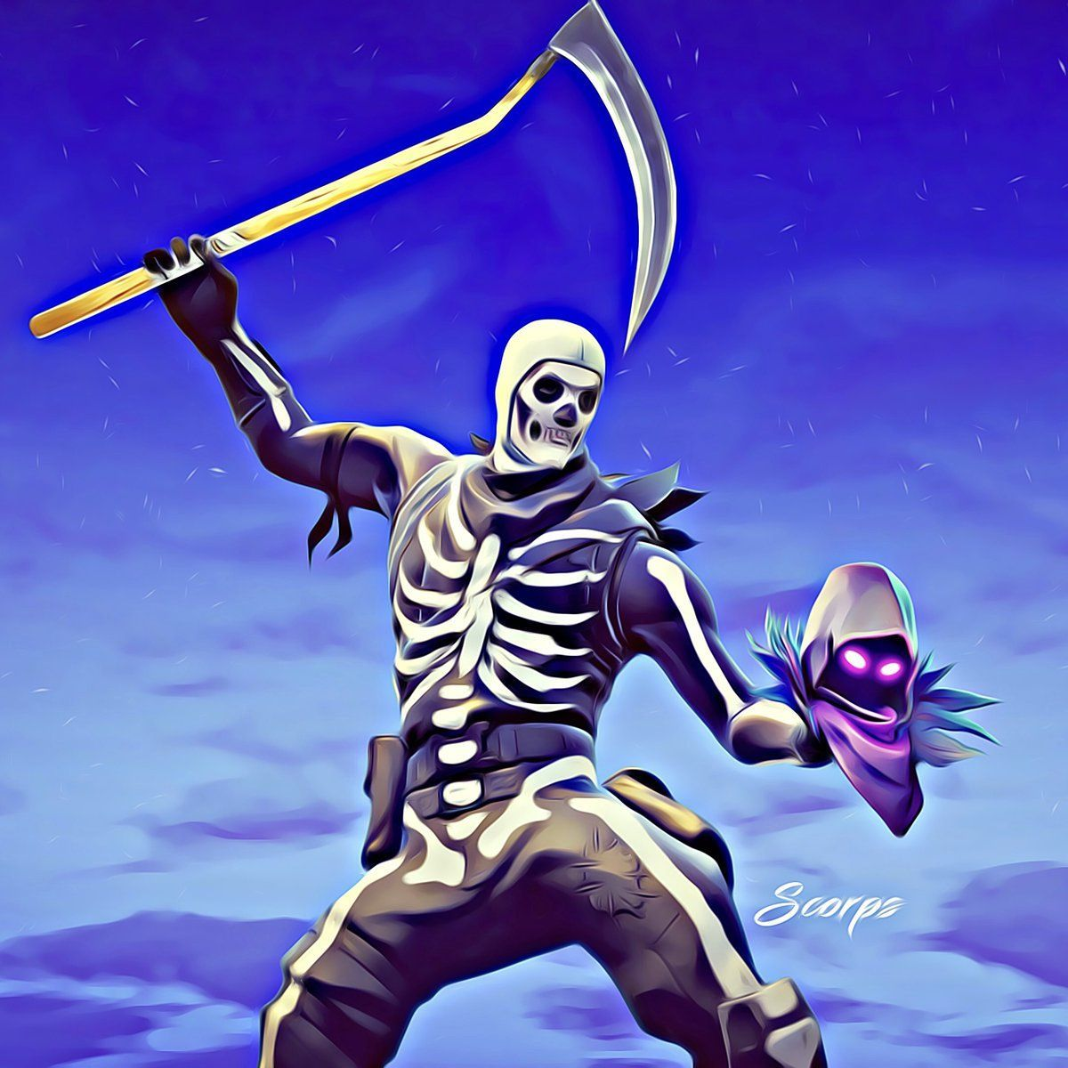 1200x1200 Skull Trooper Wallpapers
