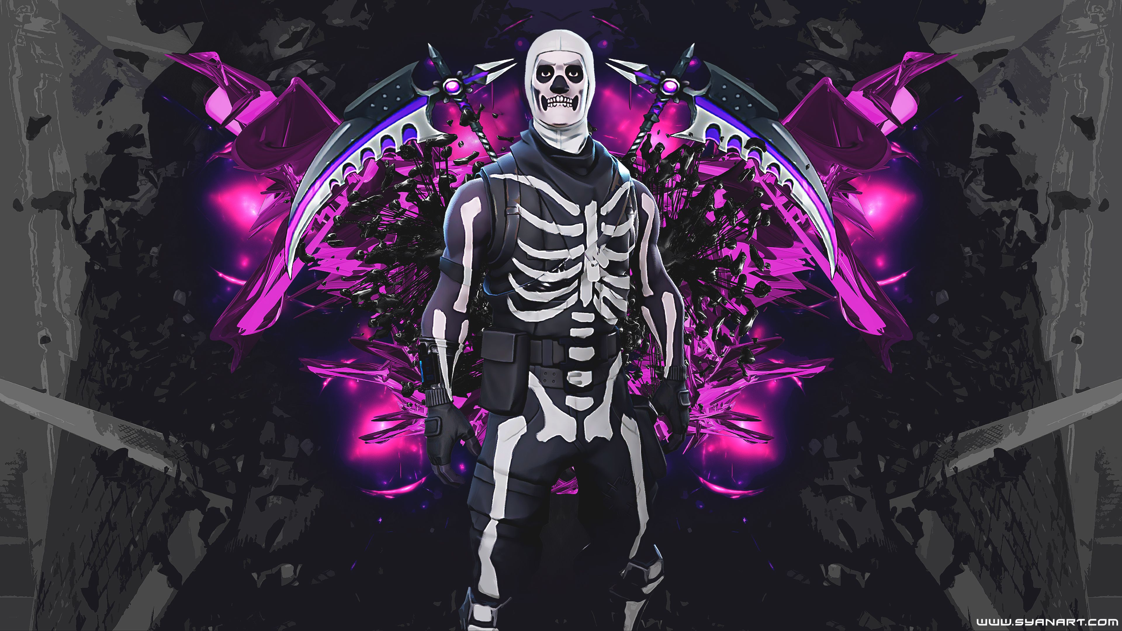 3840x2160 Fortnite Skull Trooper 4K Wallpaper - SyanArt Station SyanArt Station