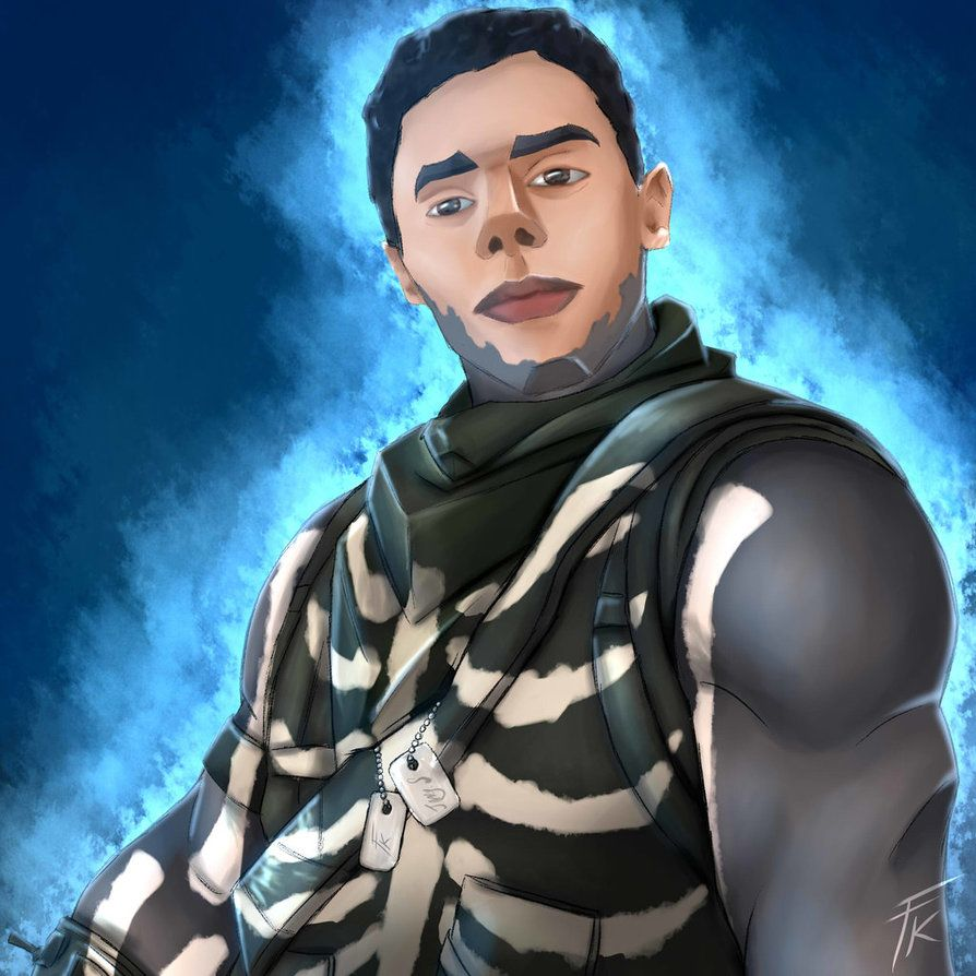 894x894 Fortnite FanArt | Skull Trooper Joncy by Flower-KidART on DeviantArt