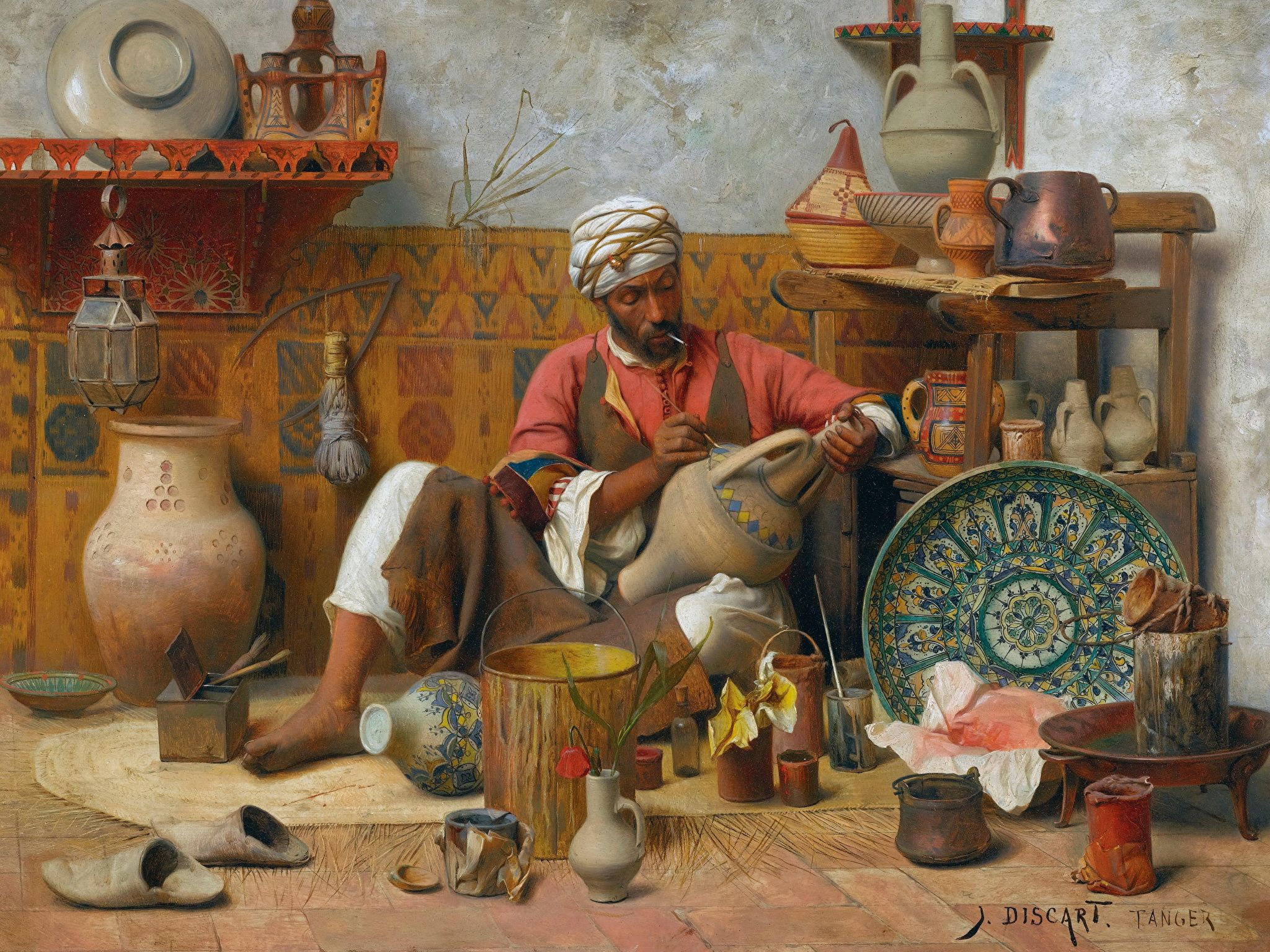 2048x1536 Photo Men Jean Discart, The Pottery Workshop, Tangiers 2048x1536