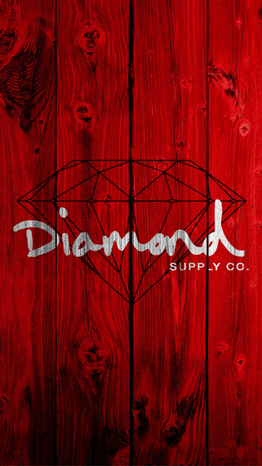 1080x1920 Red Wooden Diamond Painting Art Drawn iPhone 6 wallpaper ...