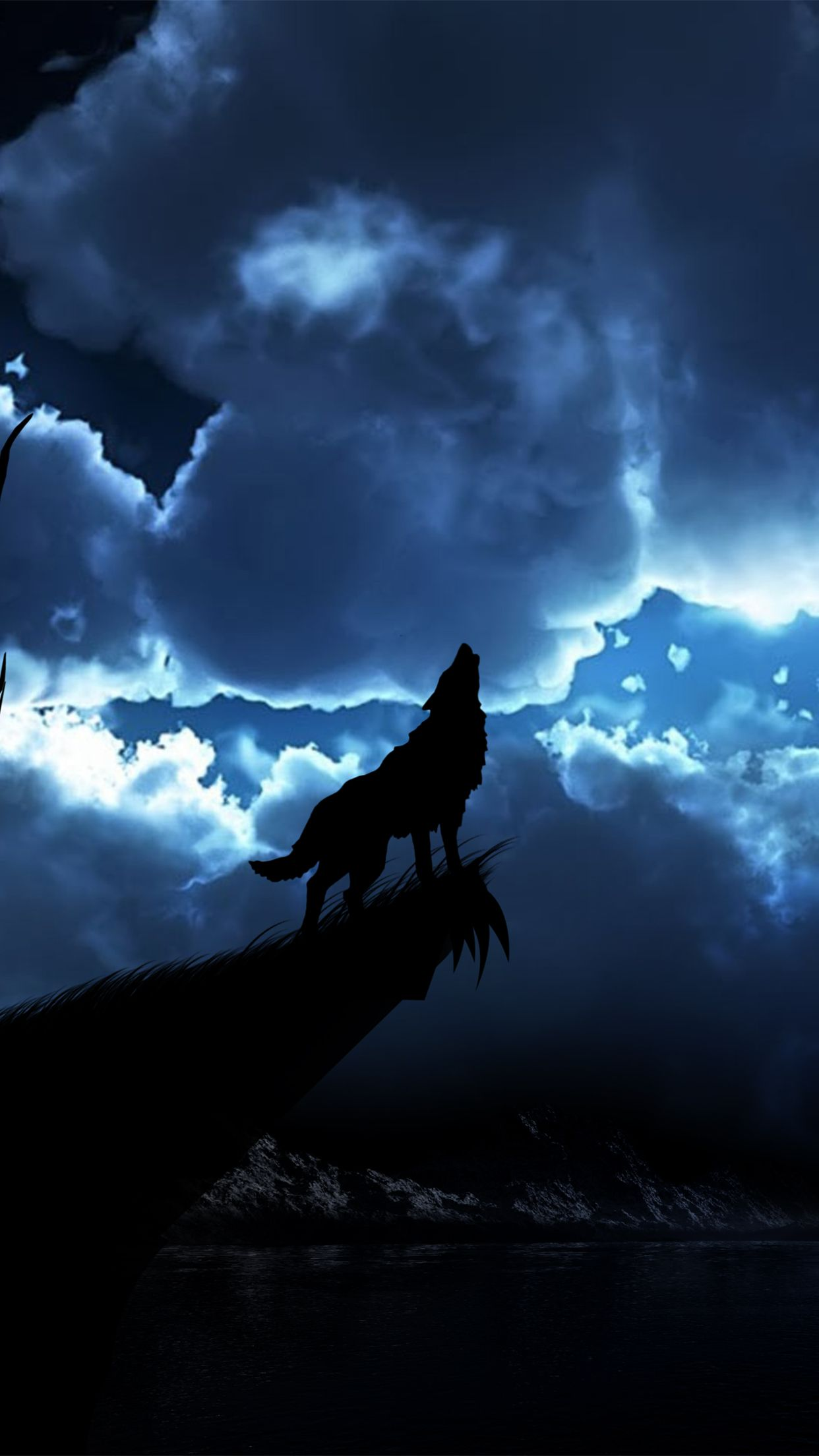 1242x2208 Wolf Night Wallpaper for iPhone X, 8, 7, 6 - Free Download on ...