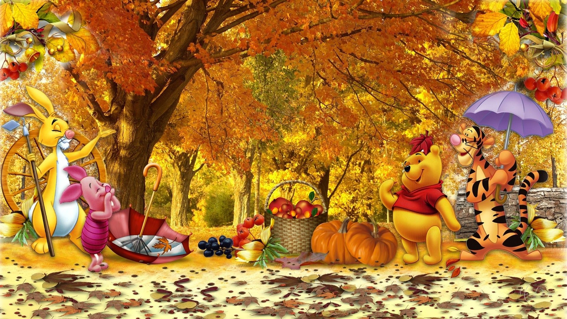 1920x1080 70 Wallpaper Autumn Winnie The Pooh Collection | Best Wallpaper HD