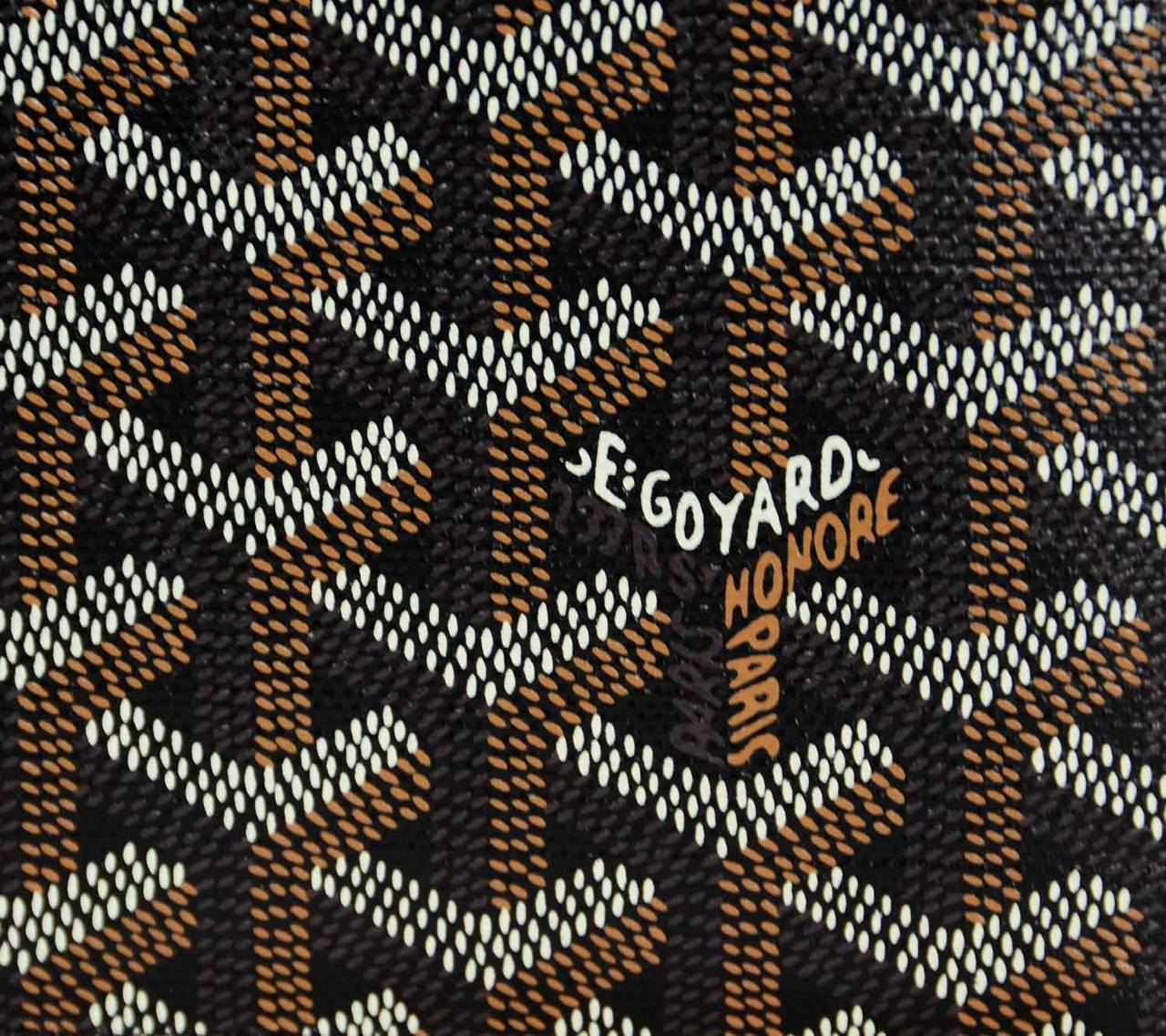 1280x1137 GOYARD Black Coated Canvas Chevron Print Bifold Wallet at 1stdibs