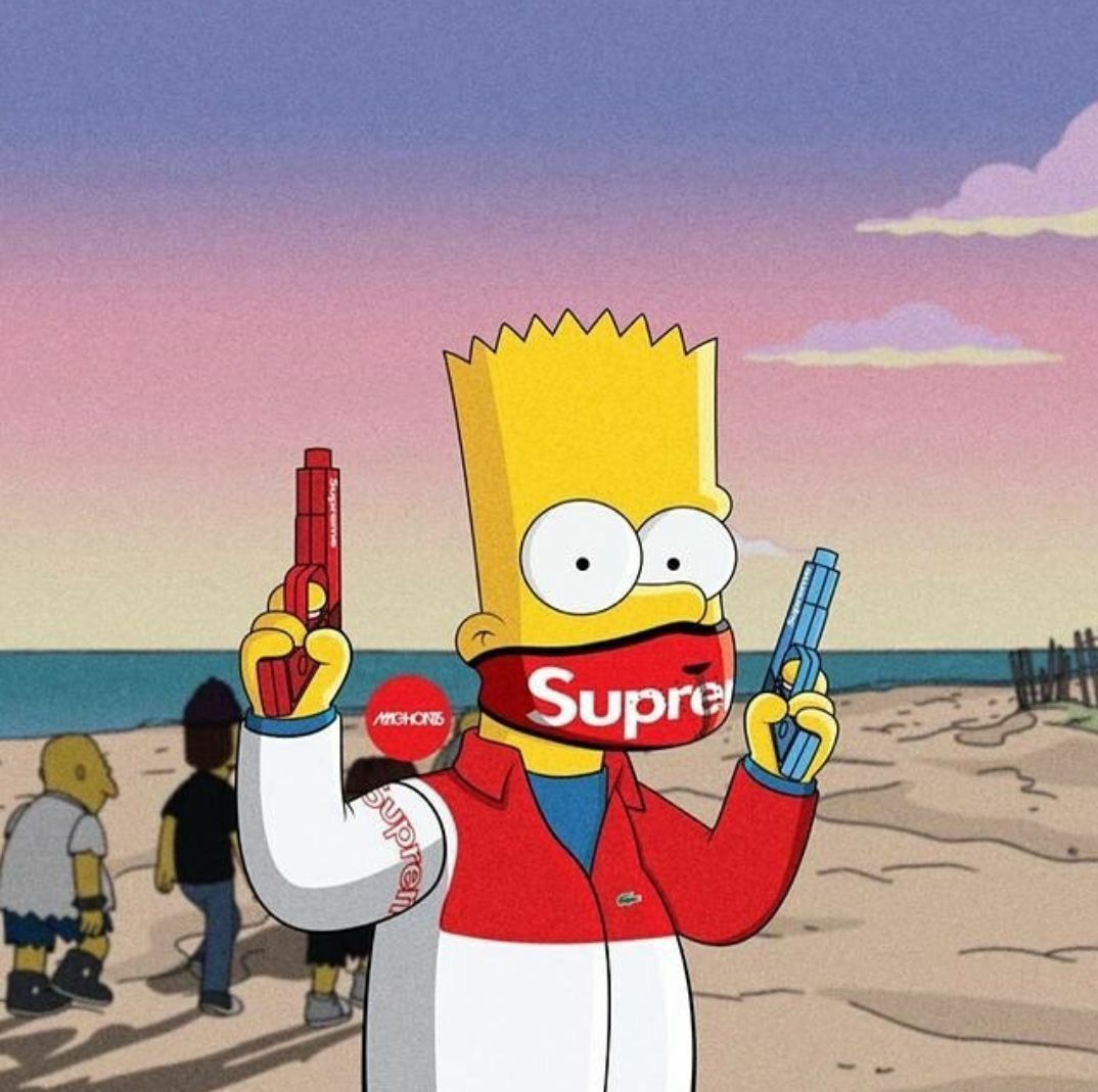 1074x1069 Supreme Bart Wallpapers