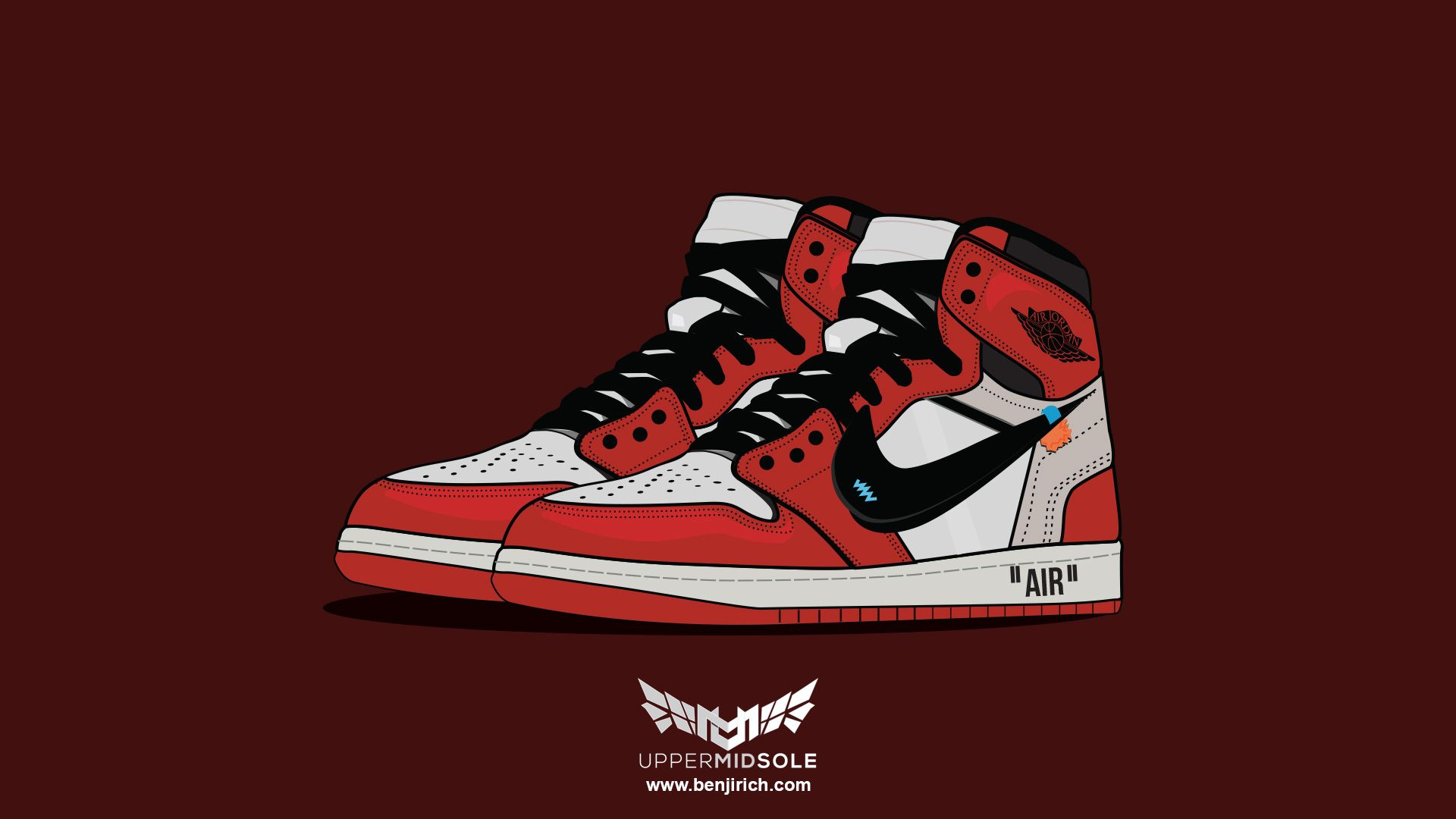 1920x1080 Off-white X Jordan Brand Retro Jordan 1 – Benjirich Media