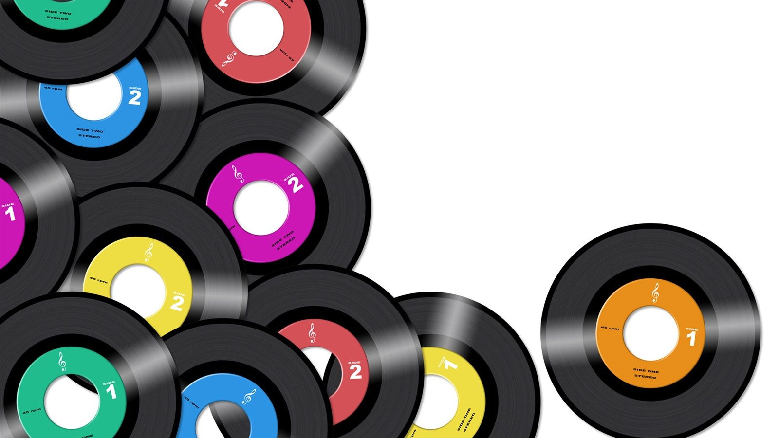 1600x900 Wallpaper Colorful Music CD 1920x1200 HD Picture, Image
