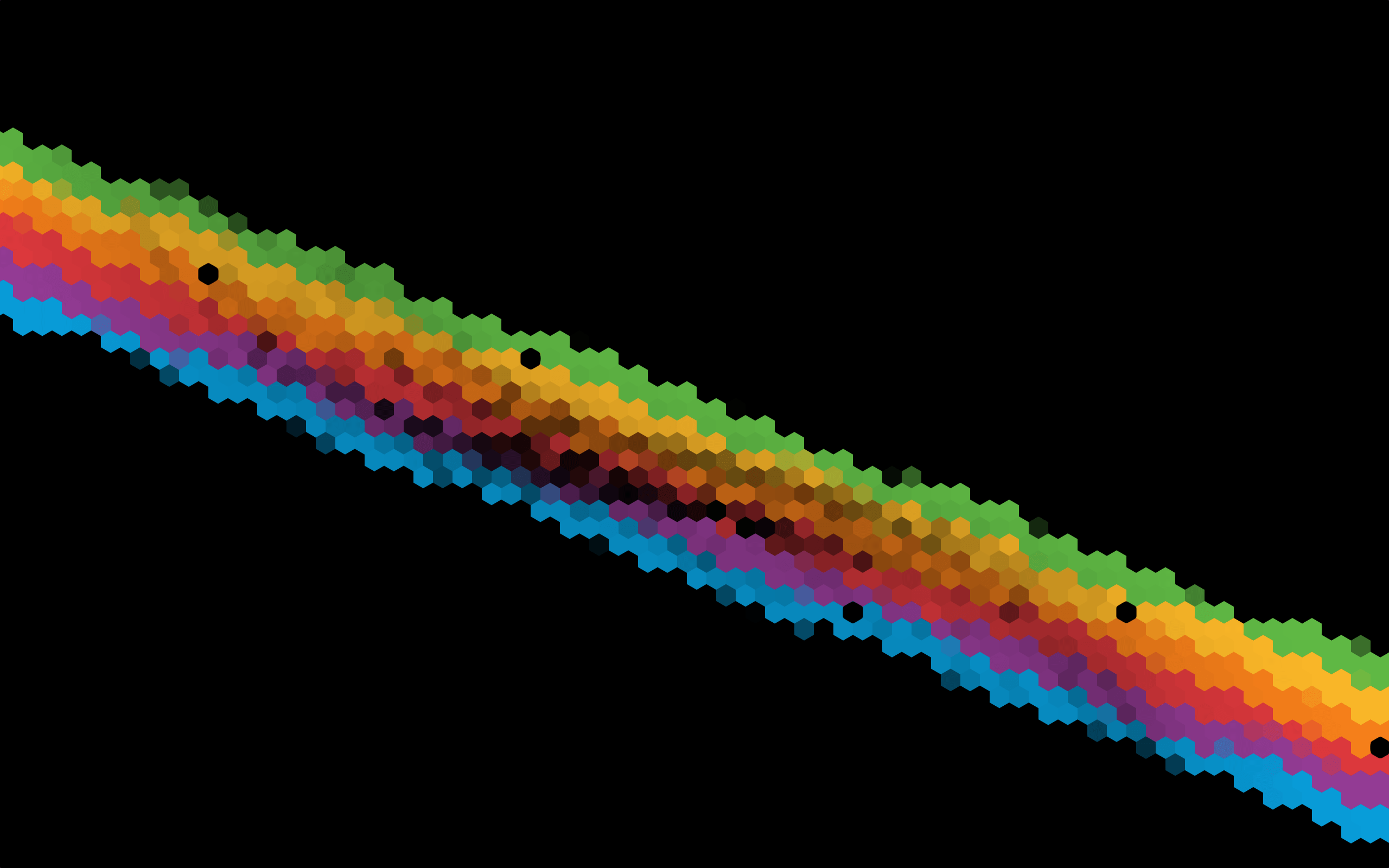 2560x1600 A lo-fi hexagonal take on Apples old rainbow (inspired by the new ...