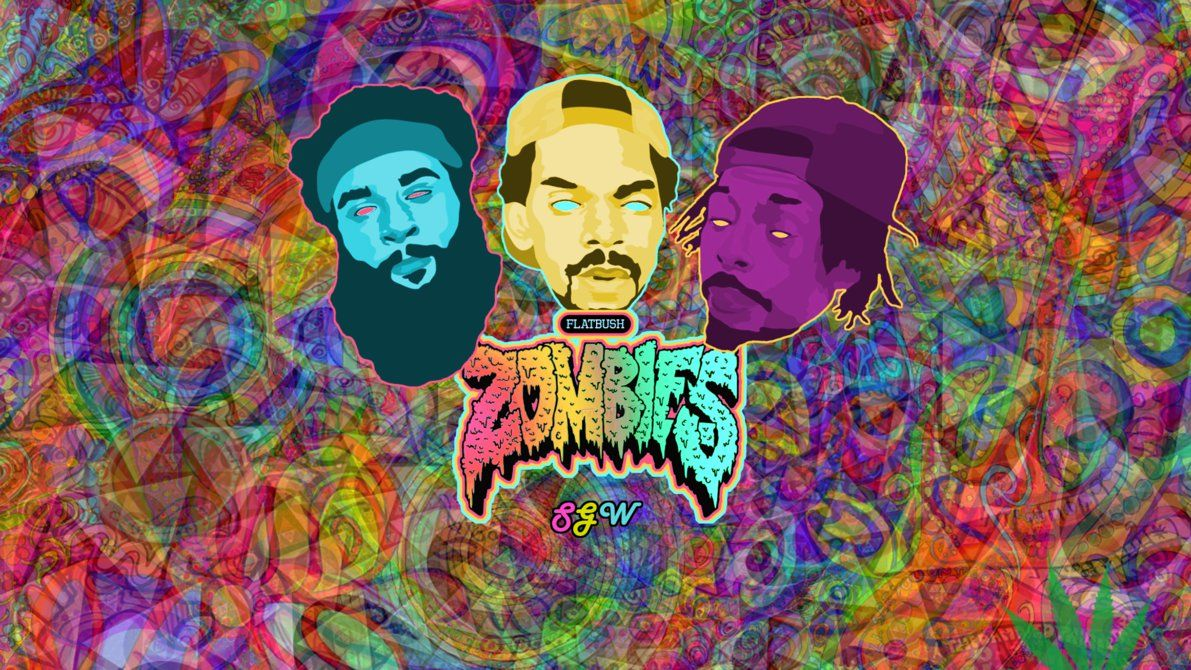 1191x670 FlatBush Zombies Psychedelic Wallpaper by JoakimRiise on DeviantArt