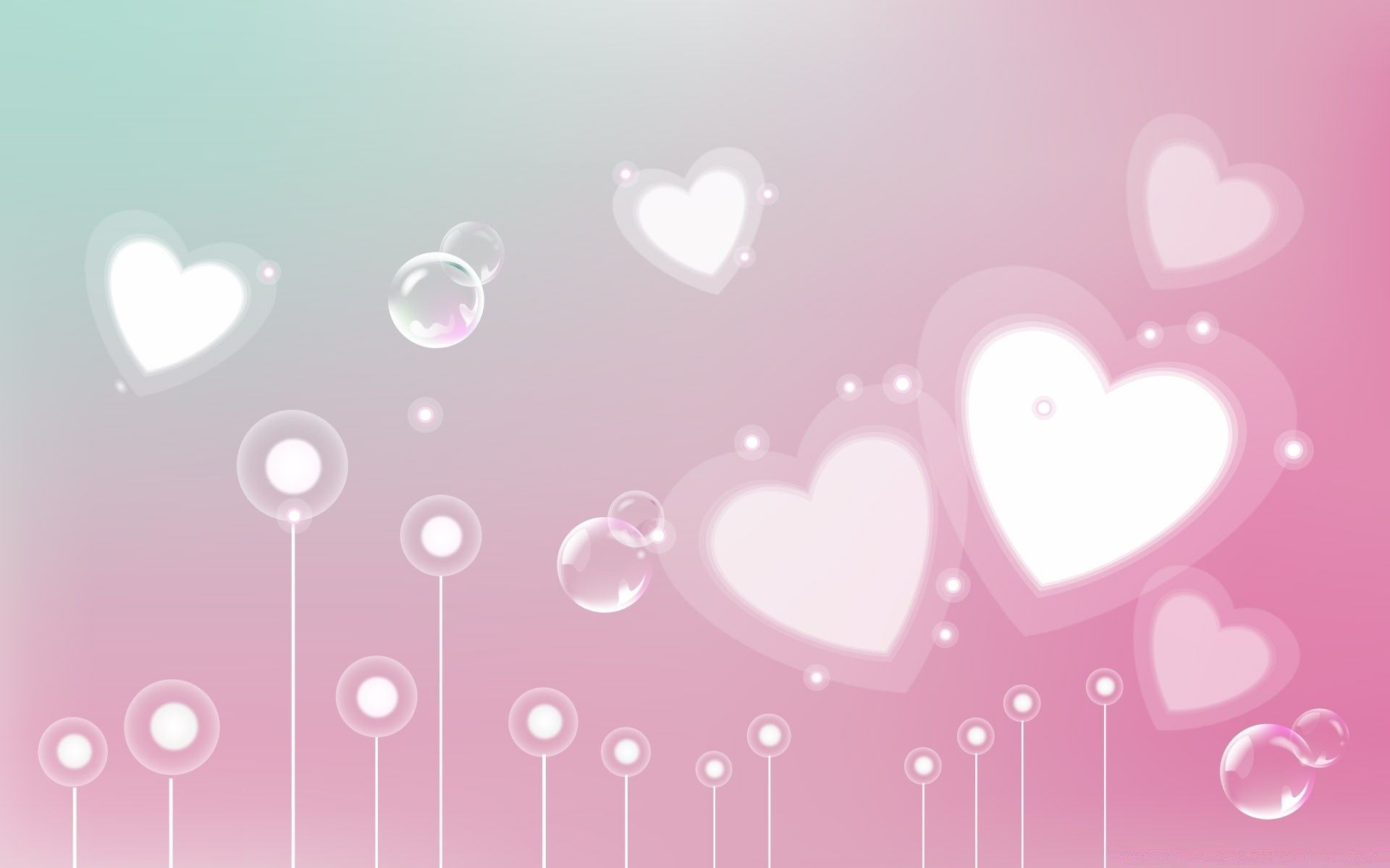1920x1200 Pastel Valentine Hearts - Android wallpapers