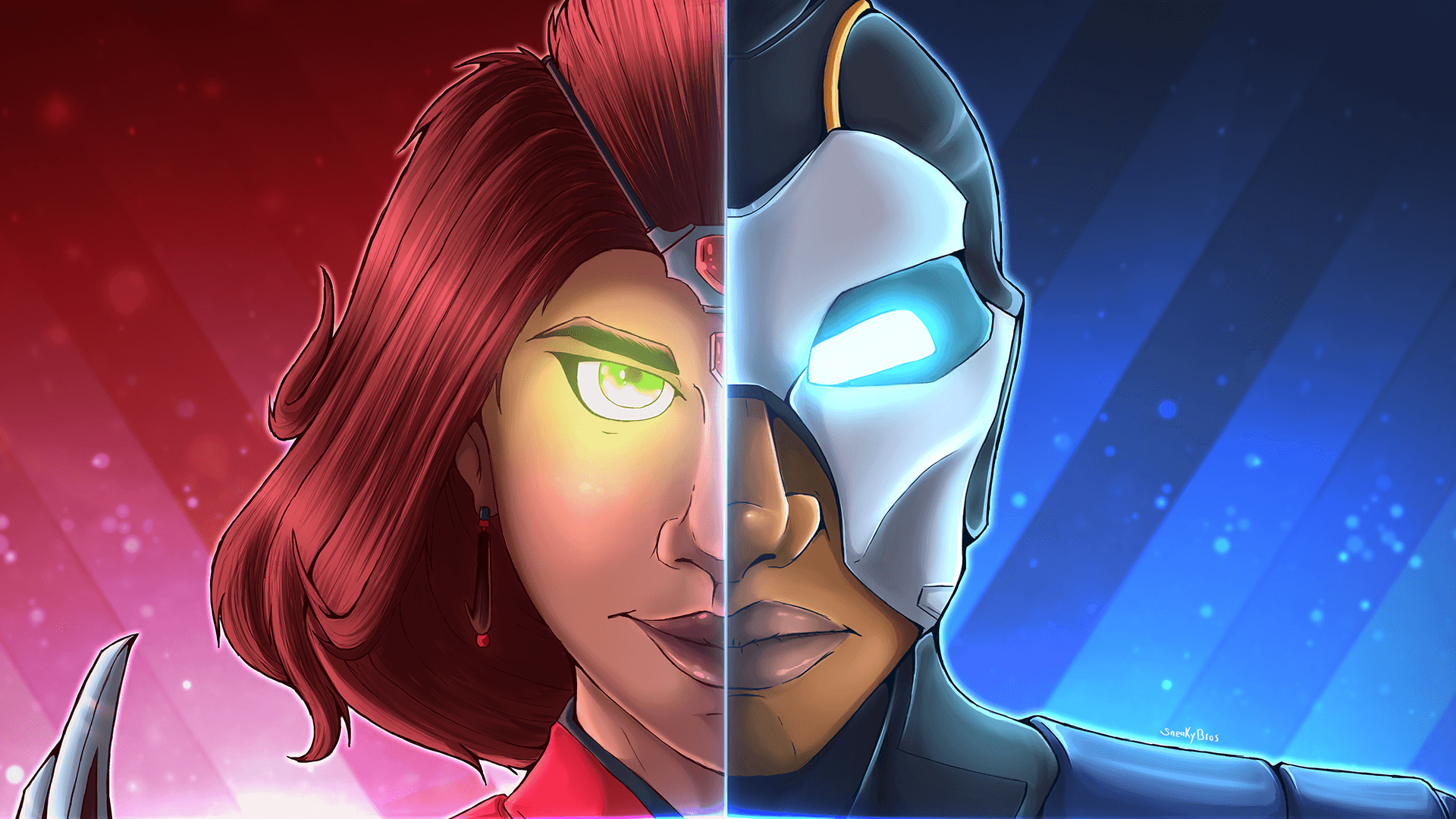 1920x1080 Wanted To Make A Split Series For Fortnite Skins! Valor and Carbide ...