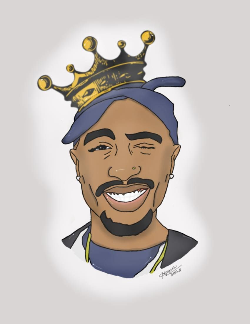 850x1100 28+ Collection of Tupac Drawing Cartoon | High quality, free ...