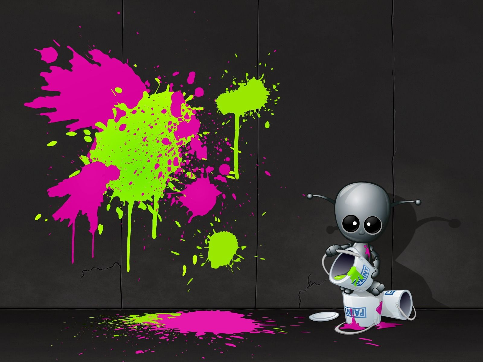 1600x1200 Robot Artist Wallpaper Abstract 3D Wallpapers in jpg format for free ...