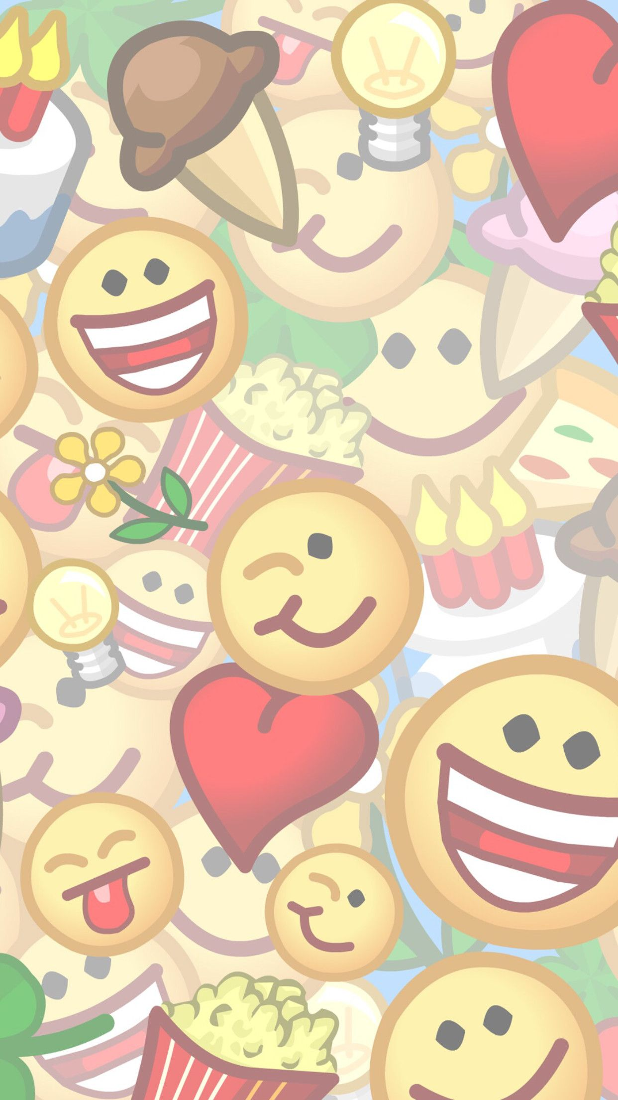 1242x2208 Cute Emoji Wallpapers for iPhone (57+ images)