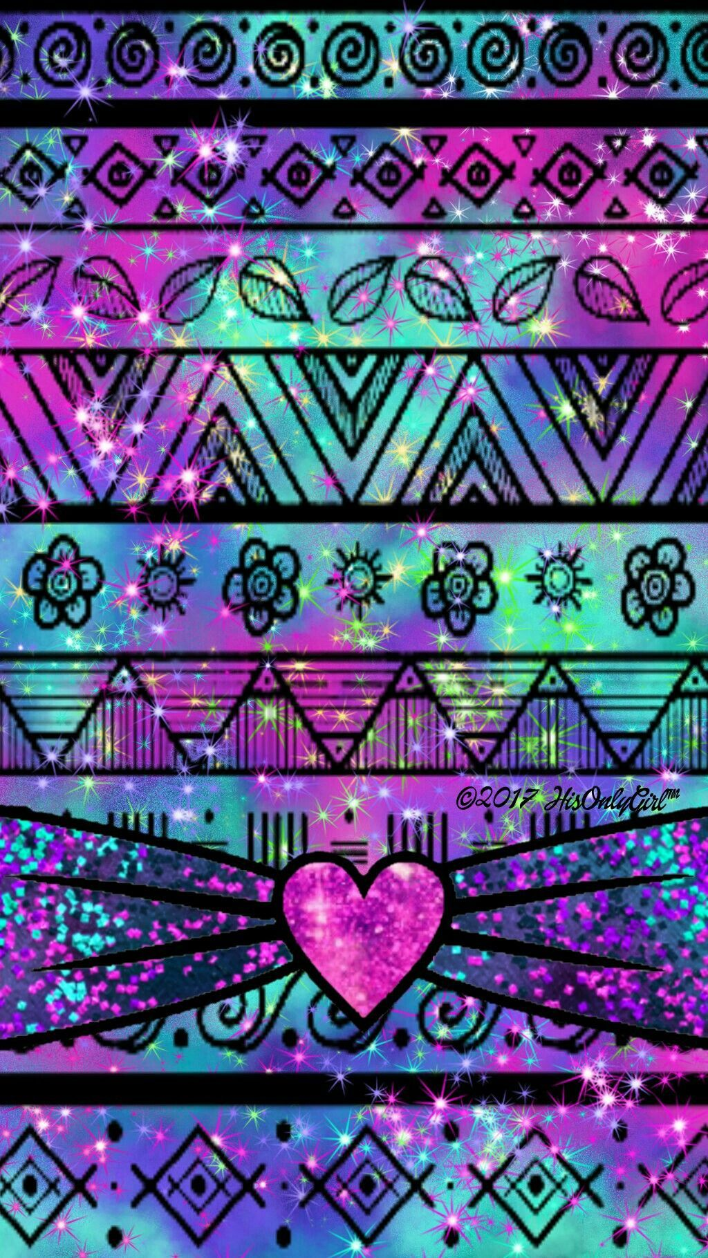 1024x1819 Girly tribal galaxy wallpaper I created for the app CocoPPa ...