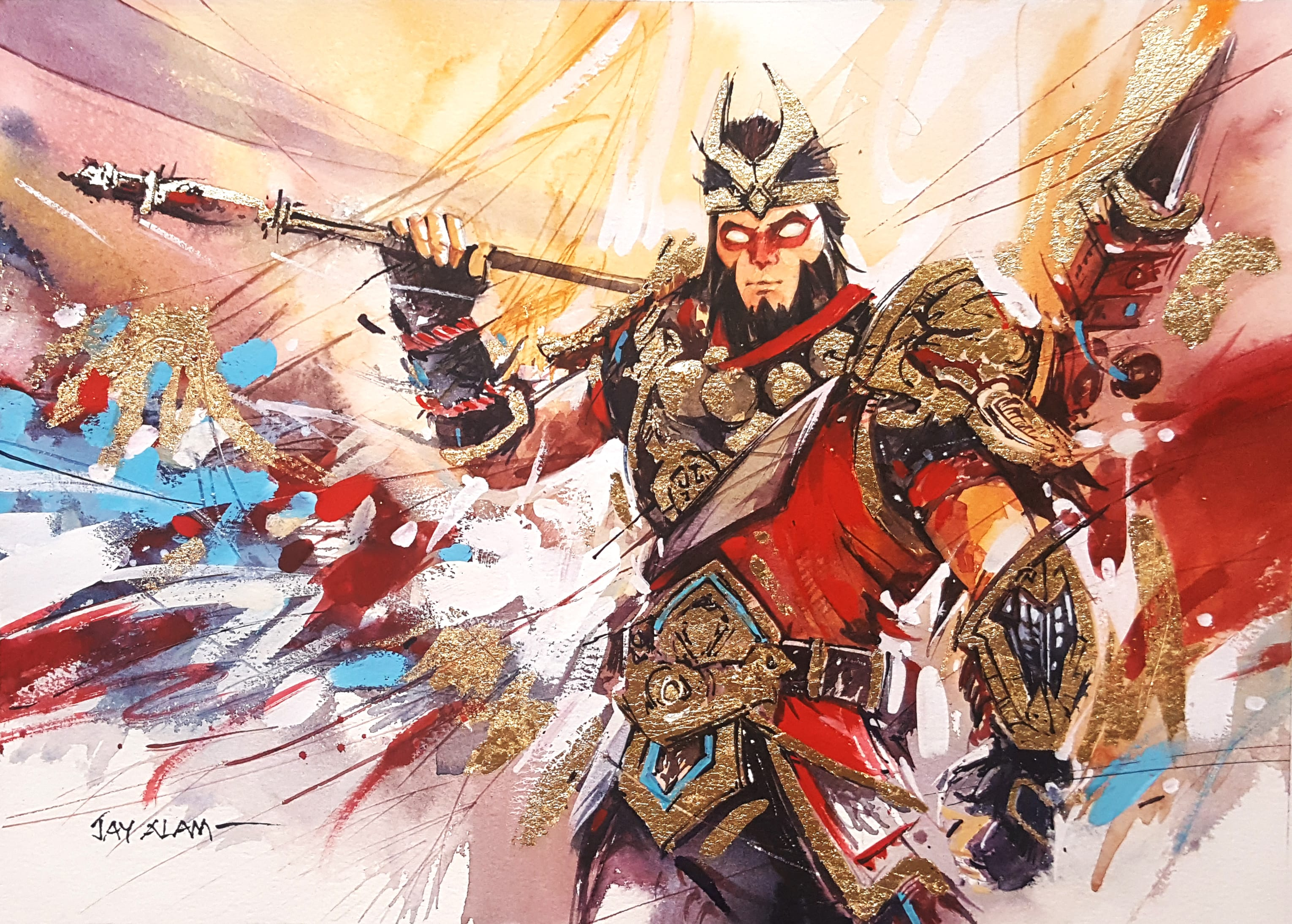 3060x2188 Fortnite Wukong Watercolour Painting #4189 Wallpapers and Free Stock ...