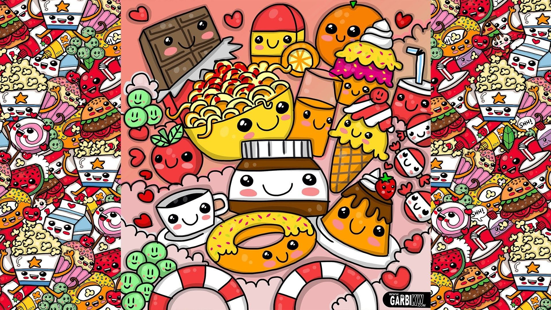 1920x1080 59+ Cute Food Wallpapers on WallpaperPlay