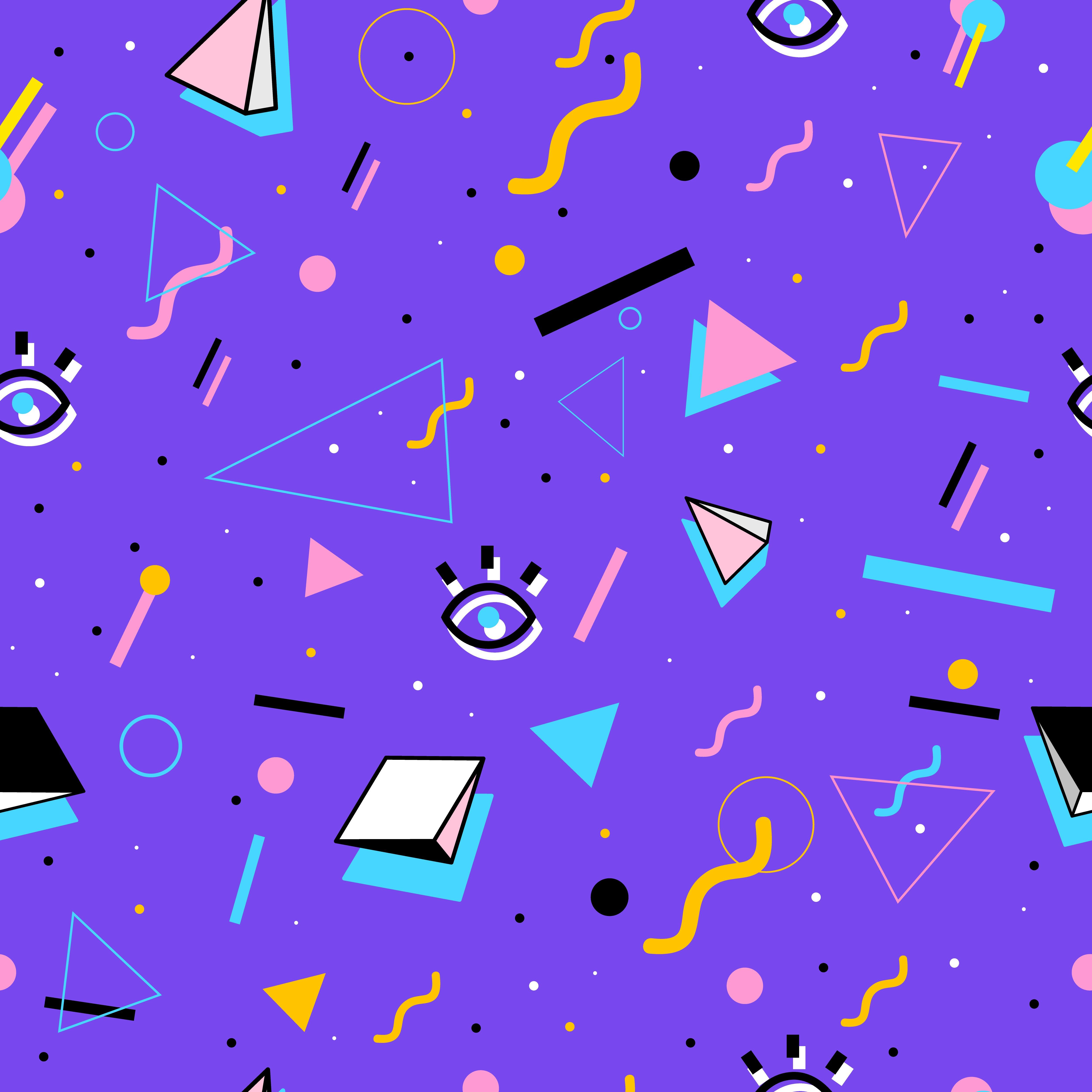 5000x5000 80's style pattern | graphic design | Pinterest | 80 s, Patterns and ...