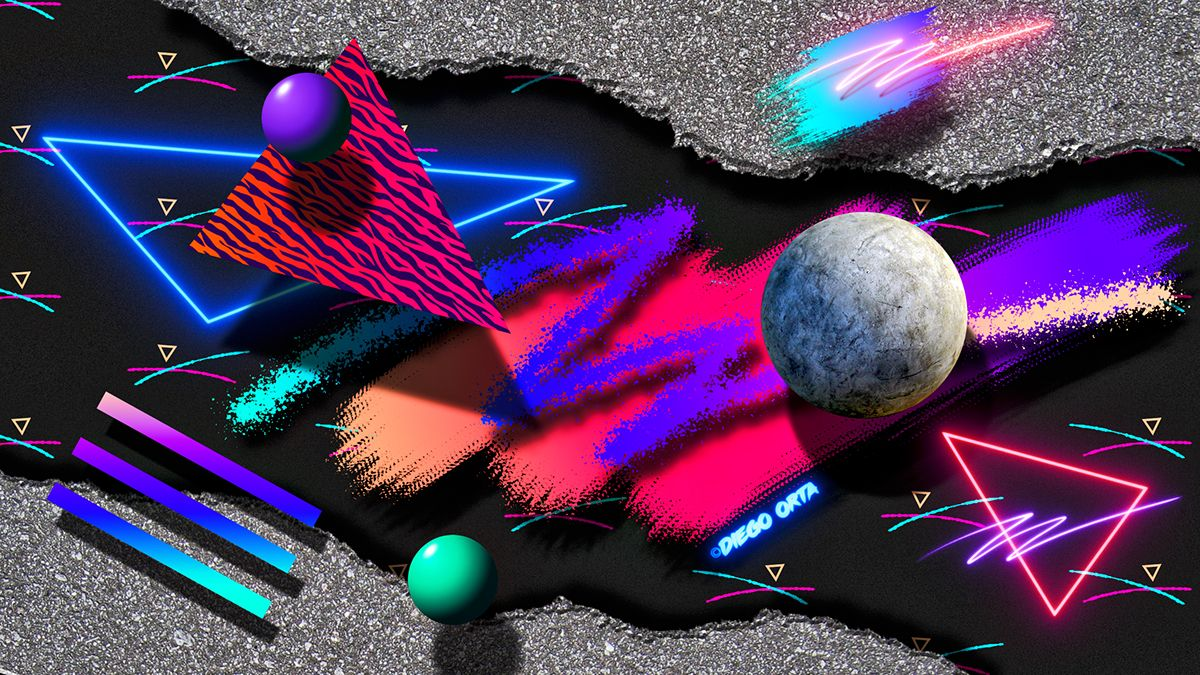 1200x675 80s Abstract New-Wave Art #5 on Behance