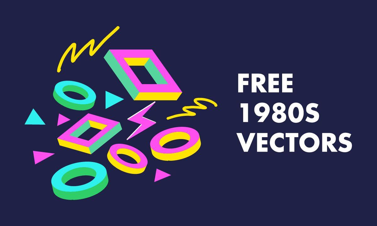 1200x720 16+ Free 80s Vectors - Patterns, Electronics and People | Hipsthetic