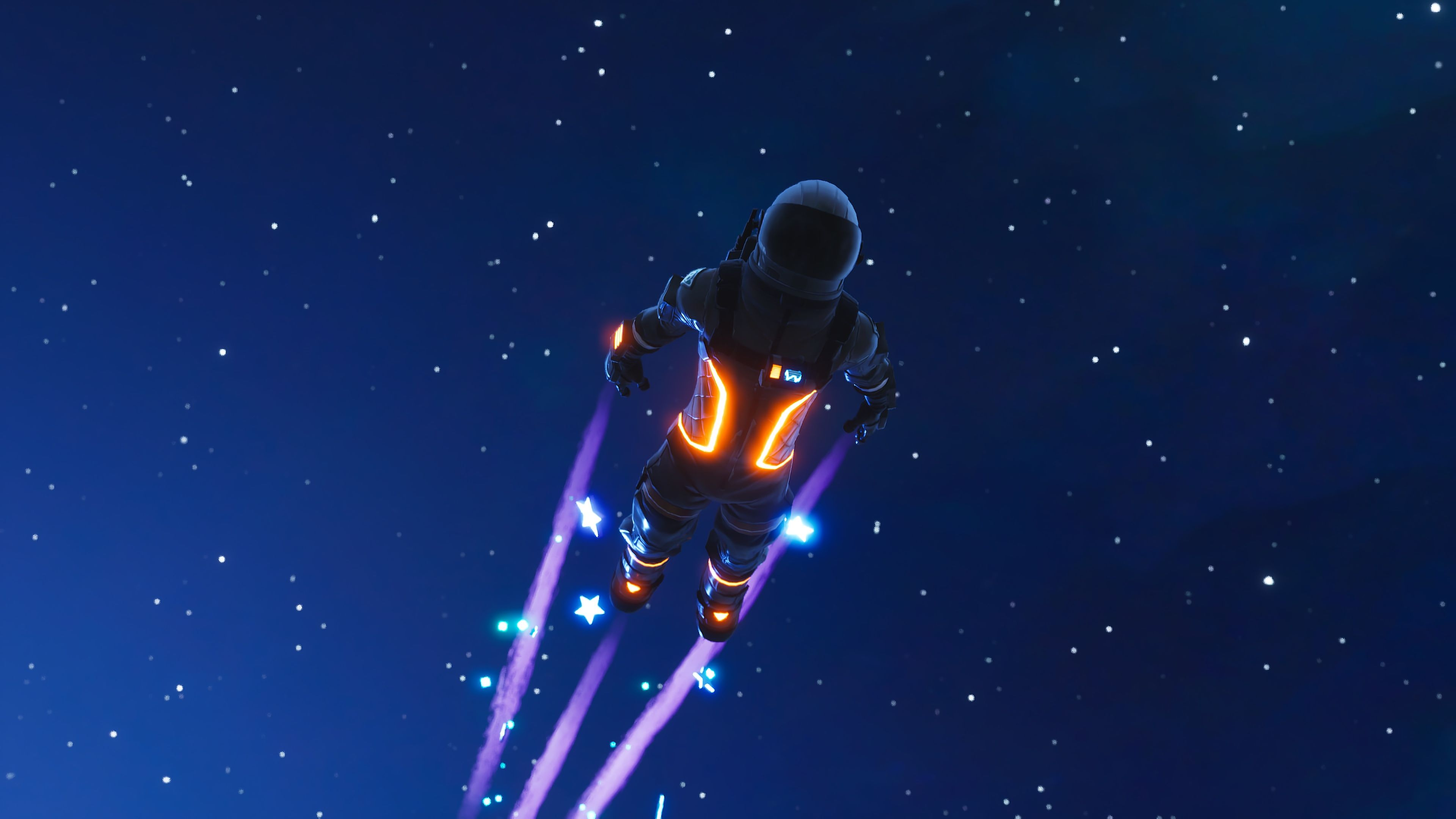 3840x2160 Dark Voyager Skydive Fortnite Battle Royale #4051 Wallpapers and ...