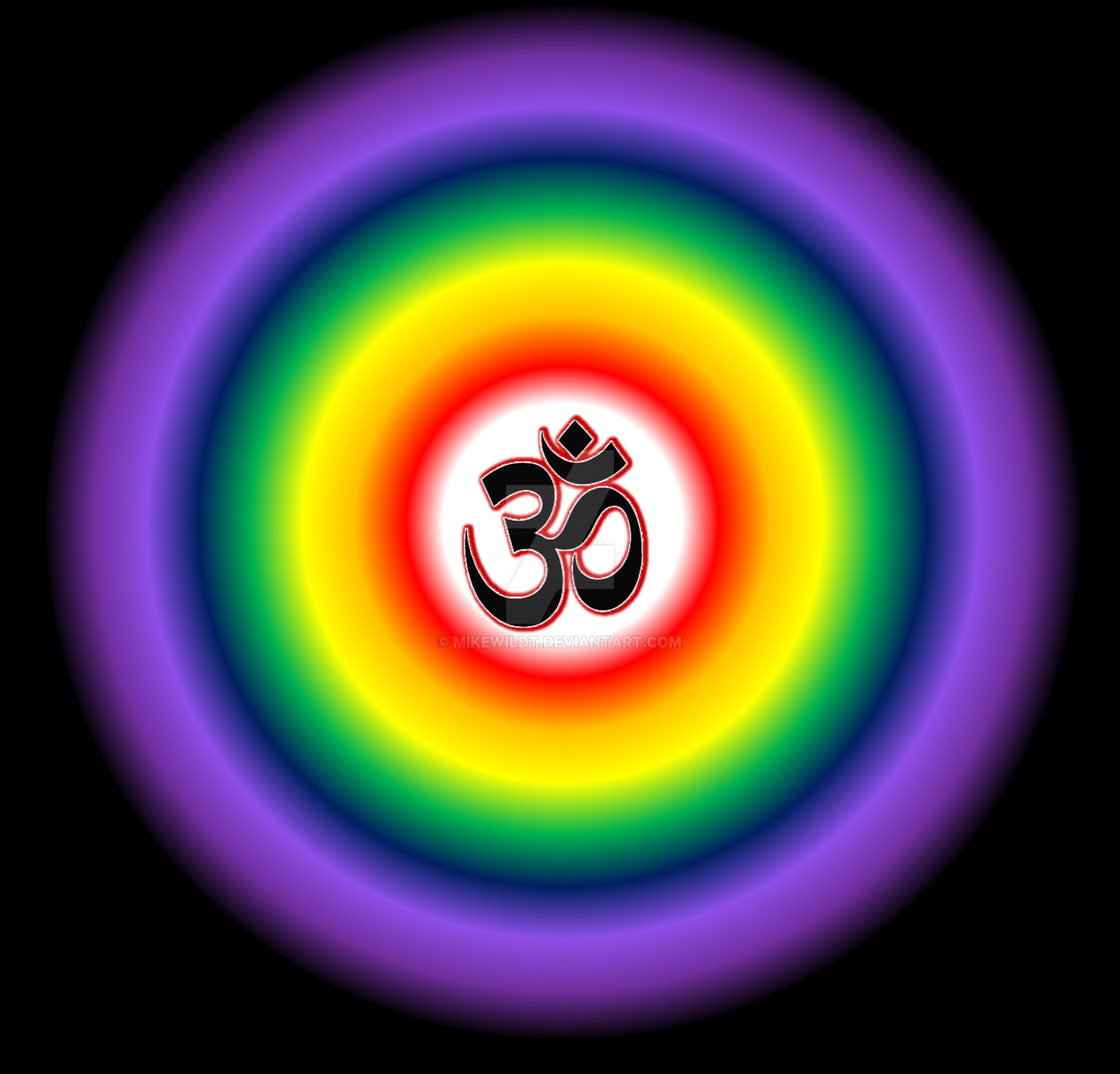 1600x1534 Om Symbol Mandala With Chakra Colors Esoteric by Mikewildt on DeviantArt