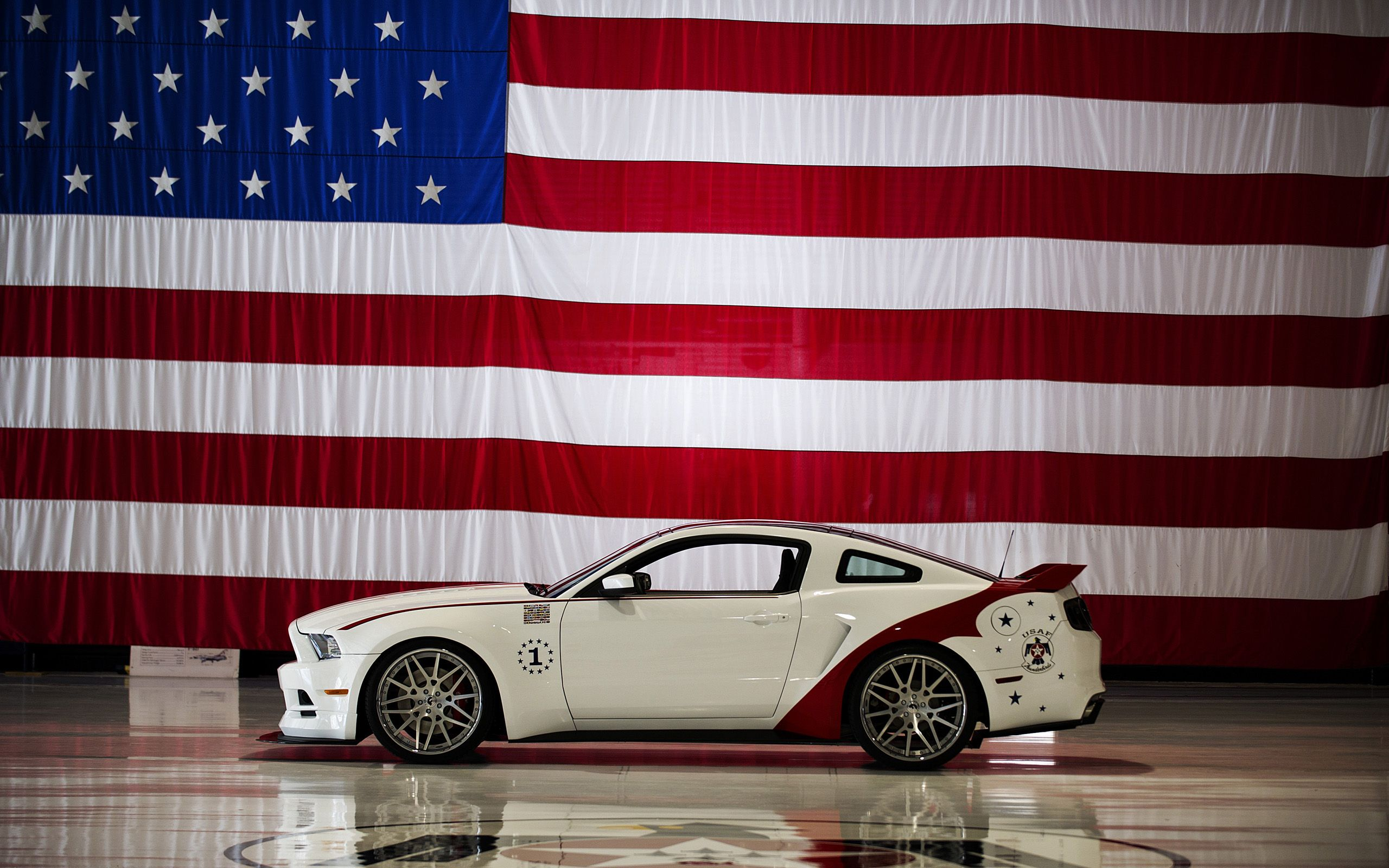 2560x1600 2014 U.S. Air Force Thunderbirds Edition Ford Mustang GT - Flag - 3 ...