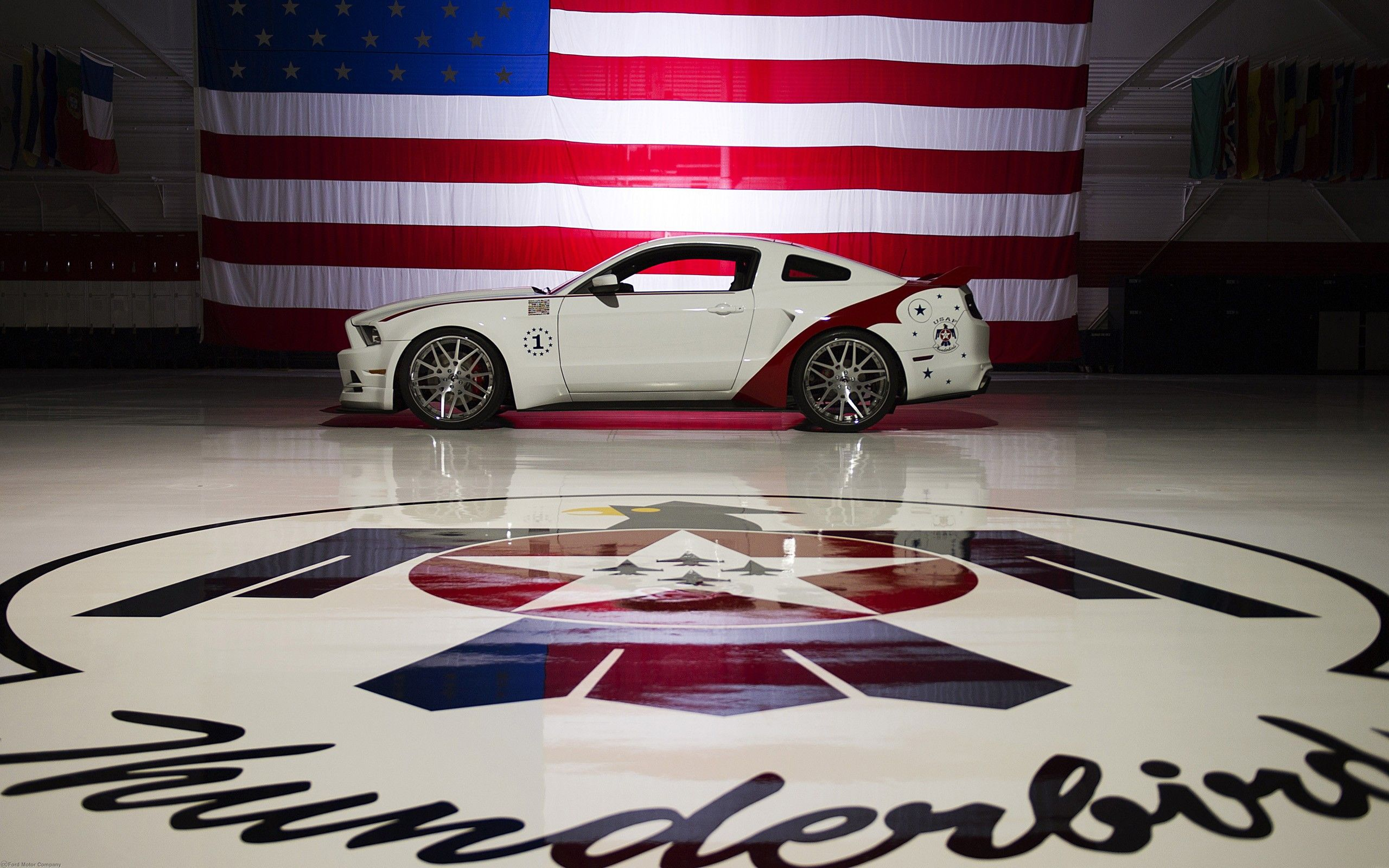 2560x1600 Ford Mustang GT, American Flag widescreen wallpaper | Wide ...