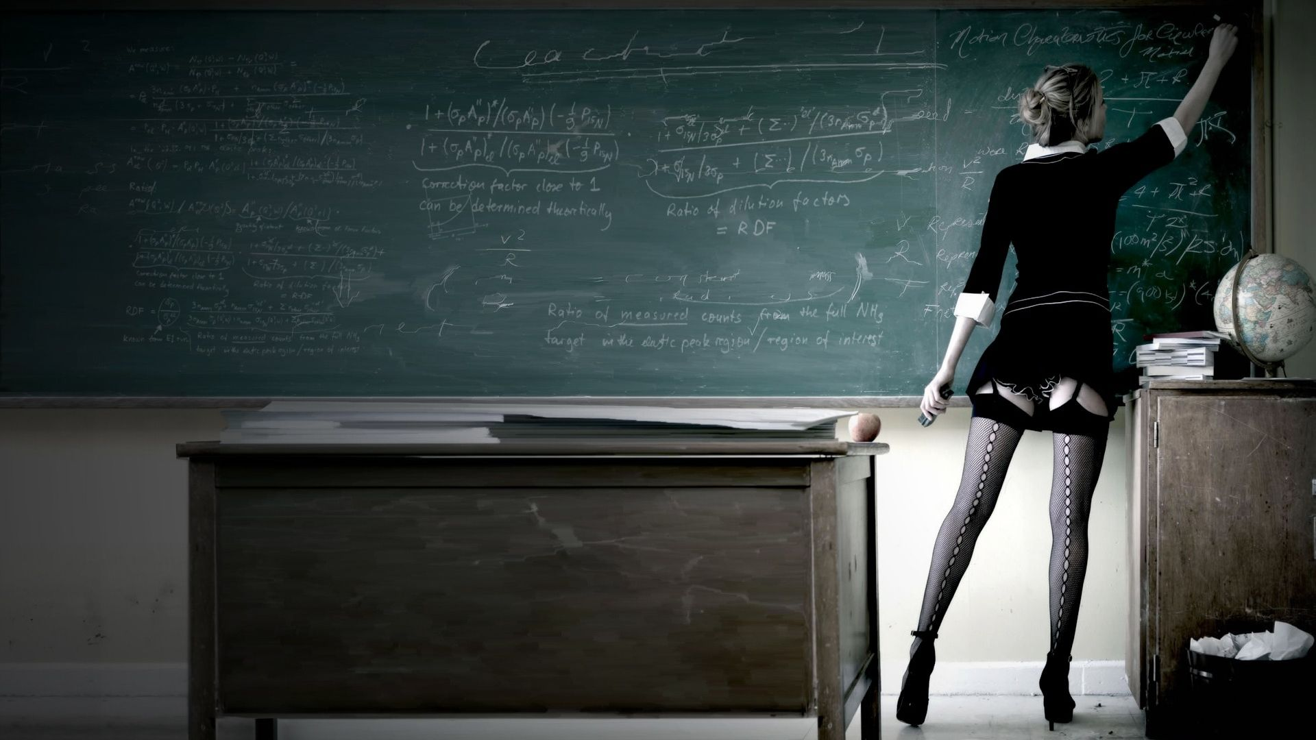 1920x1080 Wallpaper of the Teacher writing her Lesson on the Chalkboard - Imgur