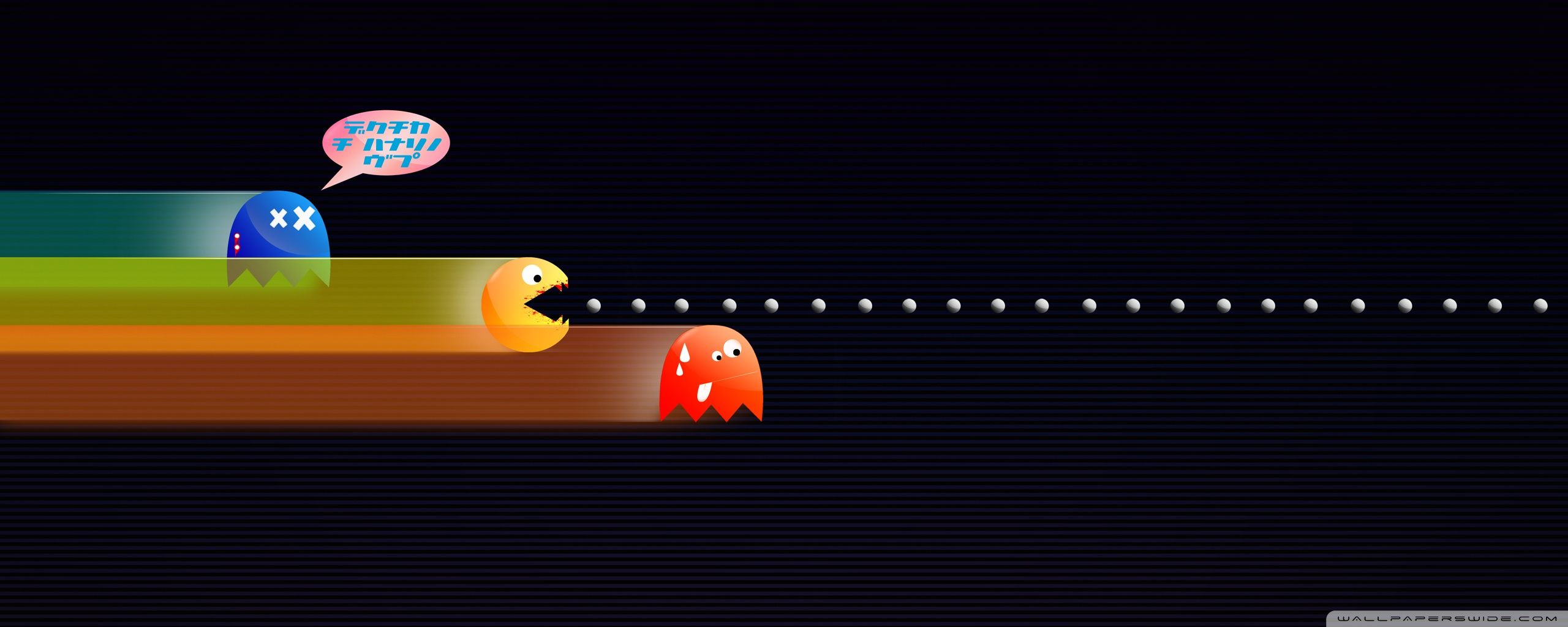2560x1024 pac man dual monitor wallpaper 2 | Dual Monitor Wallpaper