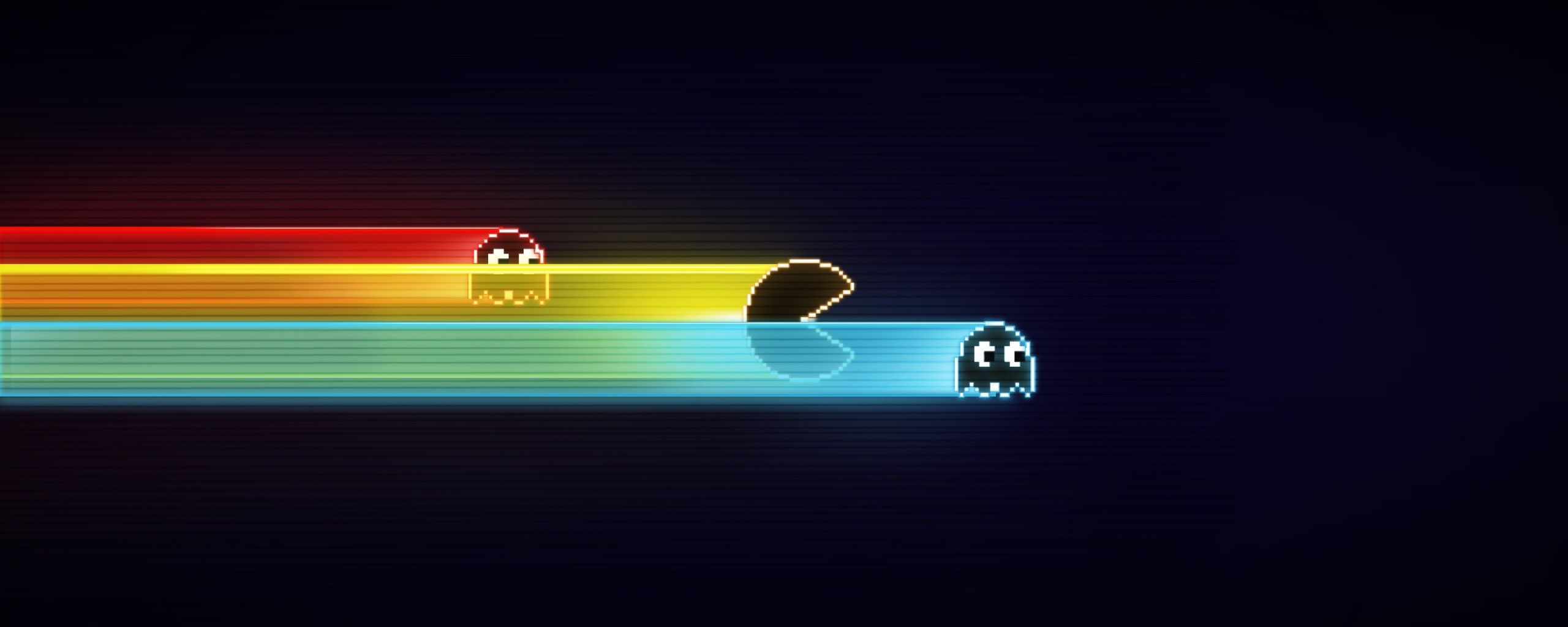 2560x1024 pac man dual monitor wallpaper 1 | Dual Monitor Wallpaper