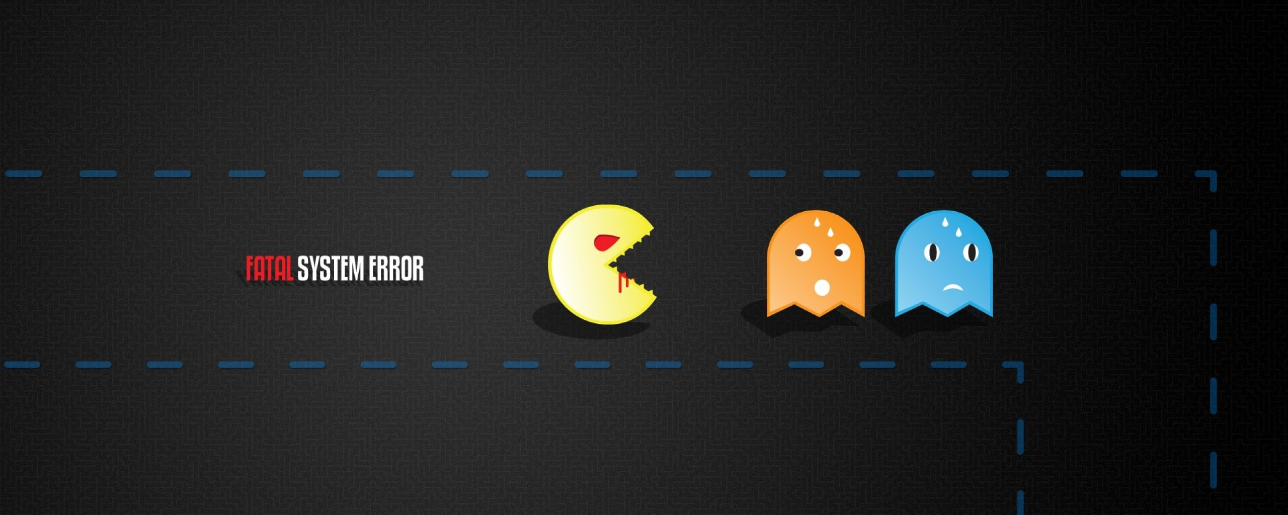 2560x1024 pac man dual monitor wallpaper hd 3 | Dual Monitor Wallpaper