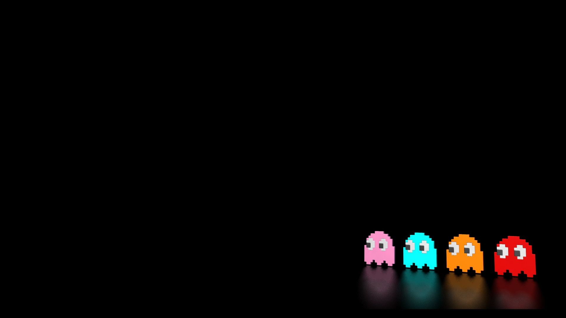 1920x1080 Download the Reflective Pacman Ghosts Wallpaper, Reflective Pacman ...