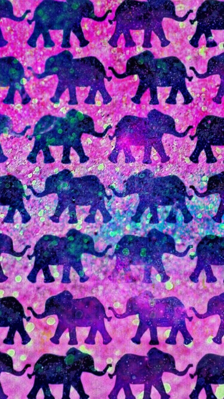 750x1333 Galaxy Elephants, made by me #purple #sparkly #wallpapers ...