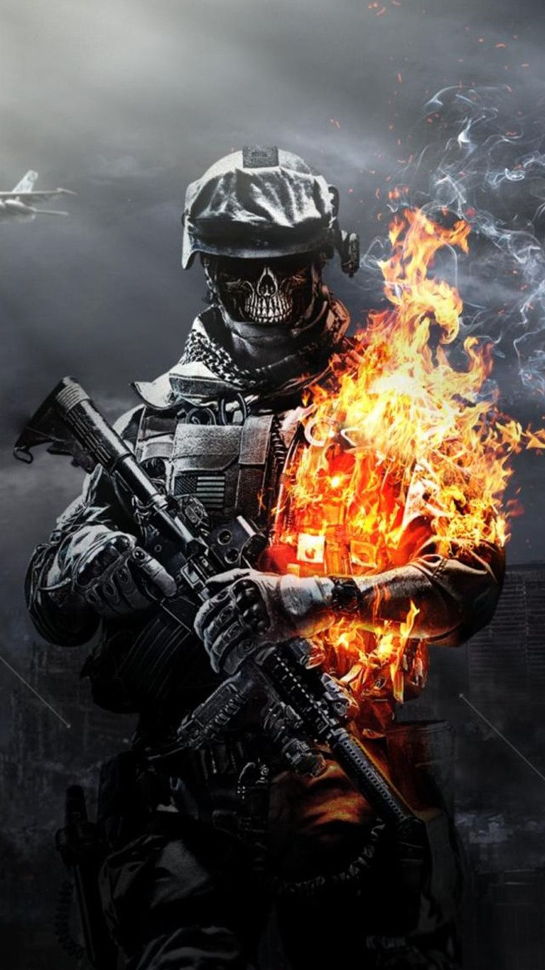 1080x1920 Call of Duty Ghosts Skull Android wallpaper - Android HD wallpapers