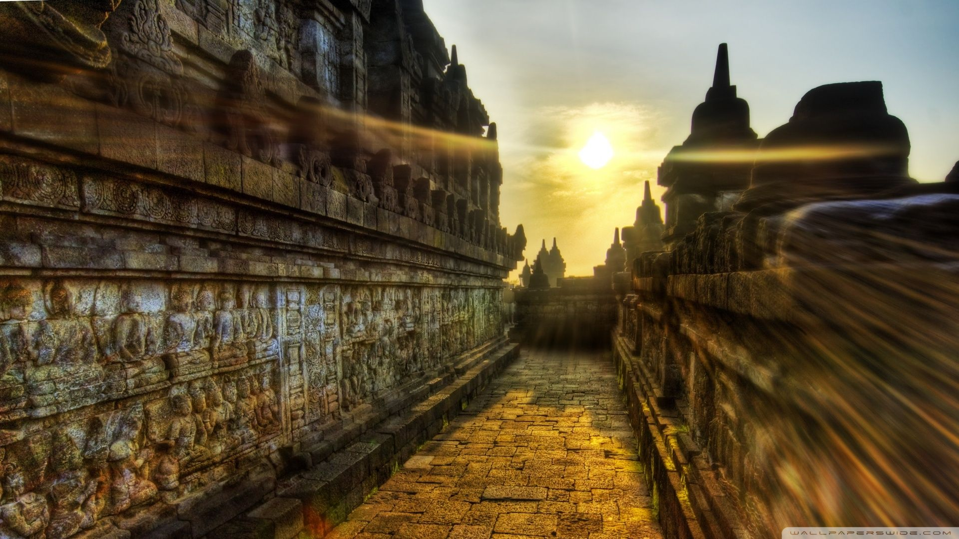 1920x1080 Download The Buddhist Temple Of Borobudur Indonesia Wallpaper ...