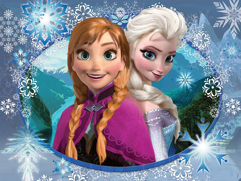 1024x768 Frozen Wallpaper Anna And Elsa Elsa Anna Wallpapers | Free ...