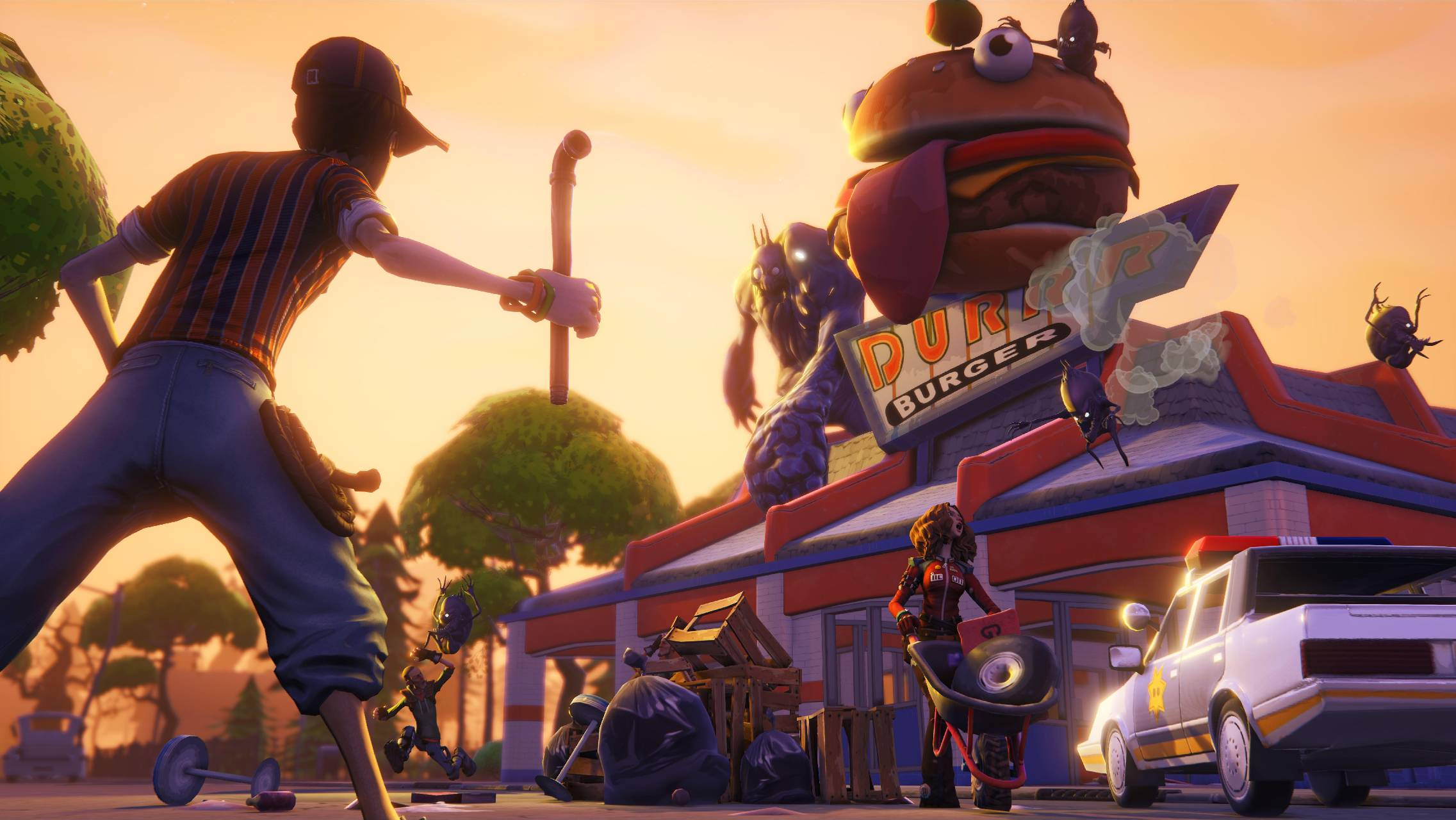 2273x1280 Fortnite durr burger Wallpaper by Flasam22 - 5e - Free on ZEDGE™
