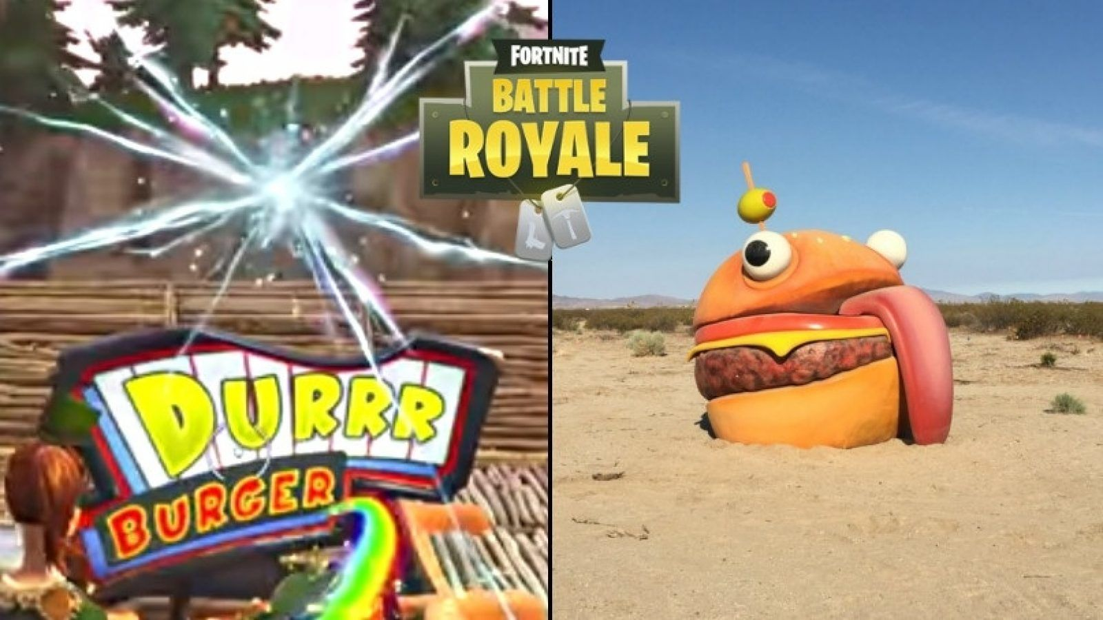 1600x900 Missing 'Durrr Burger' Sign From Fortnite Found in Real Life Desert ...