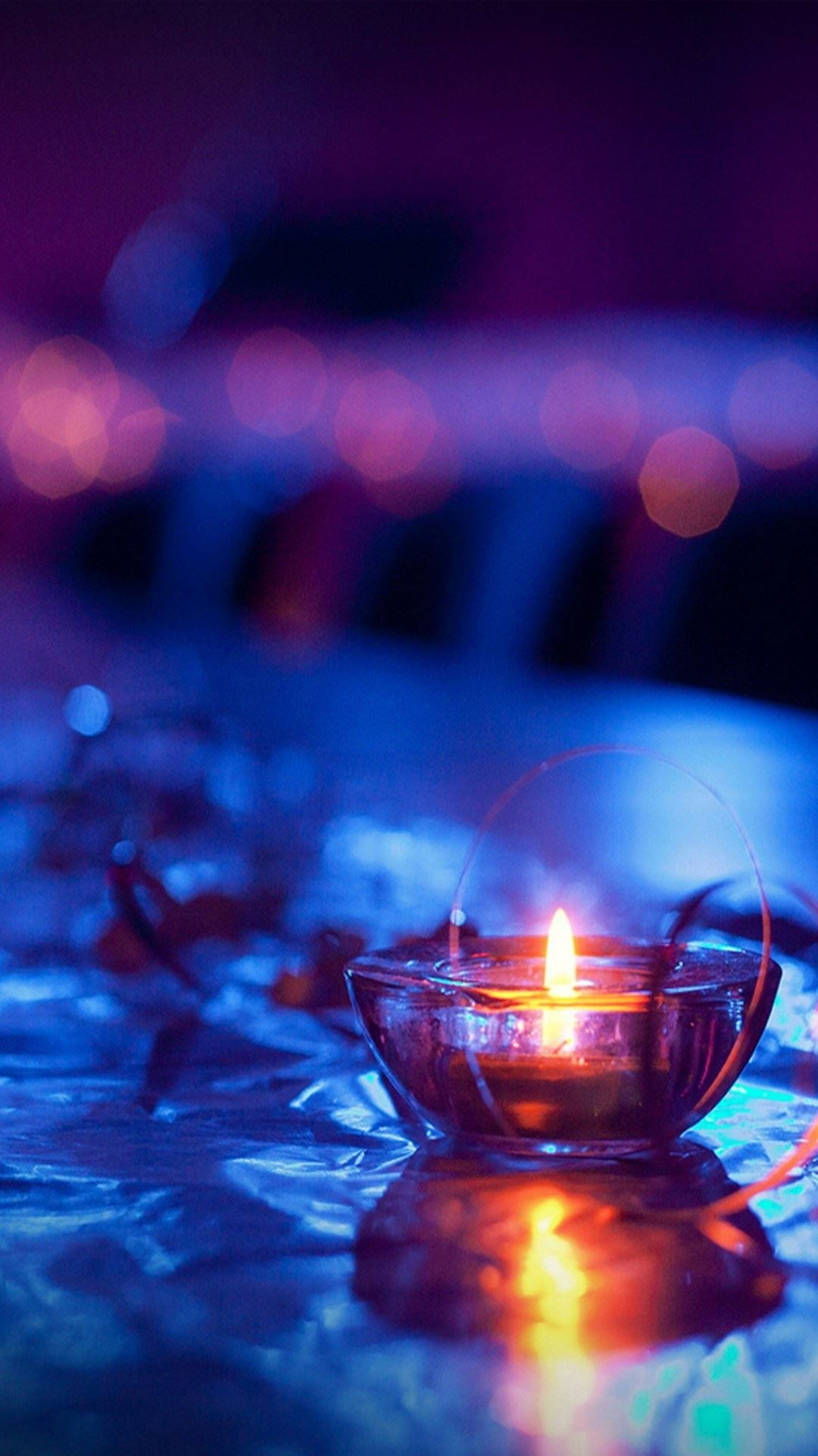 1080x1920 Macro Lit Candle Android Wallpaper free download