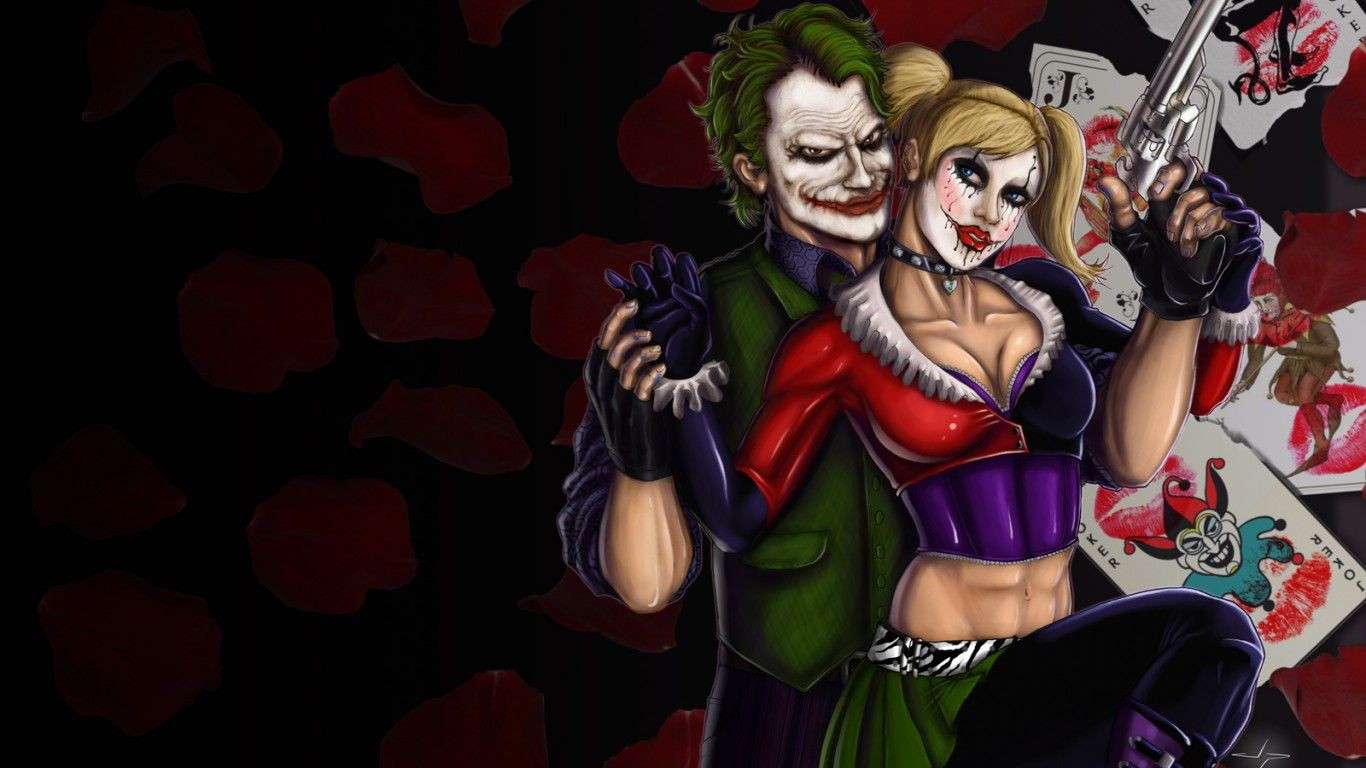 1366x768 Harley Quinn And Joker Wallpaper Hd : Wallpapers13.com