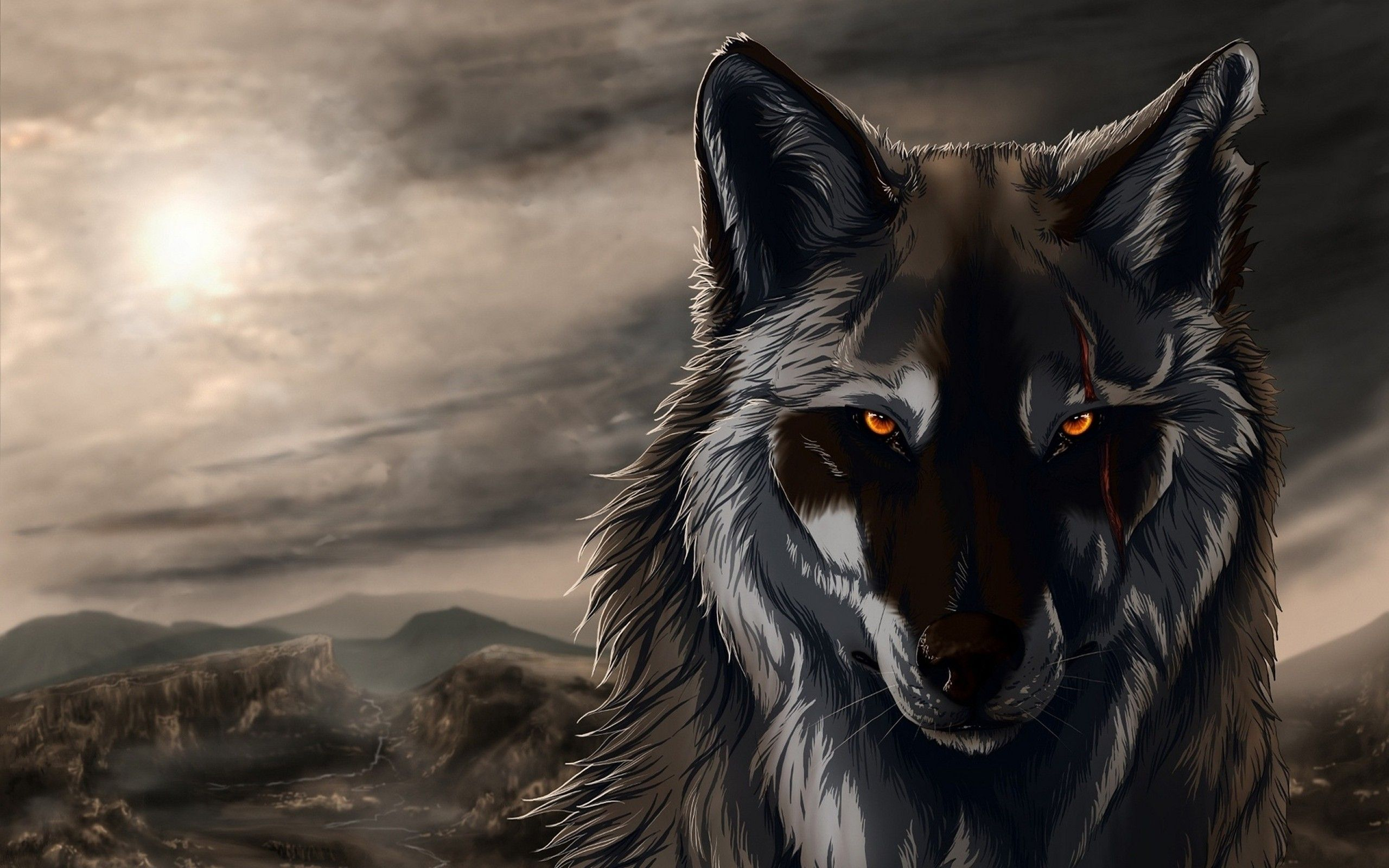 2560x1600 Furry Wolf Wallpaper (75+ images)