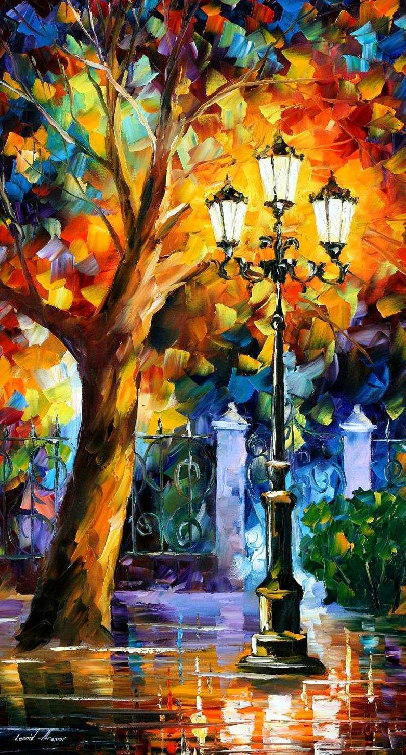 795x1477 Oil Painting Idea Luxury Romantic Aura — Palette Knife Oil Painting ...
