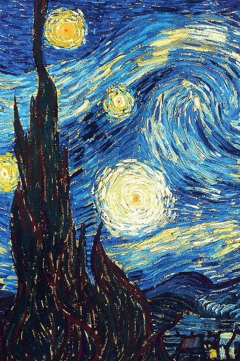 800x1200 Download wallpaper 800x1200 vincent van gogh, the starry night, oil ...