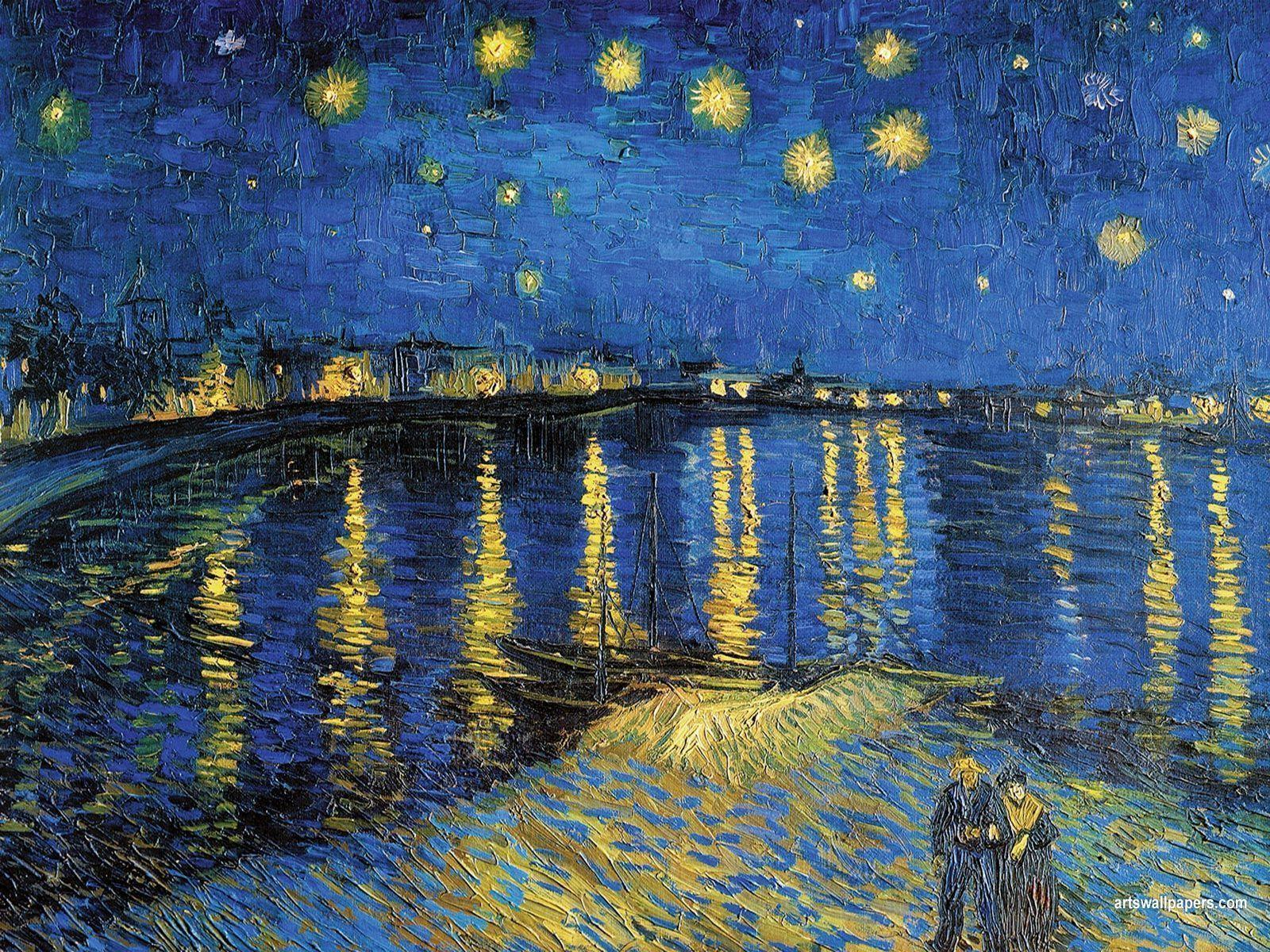 1600x1200 Starry Night Over The Rhone Wallpapers